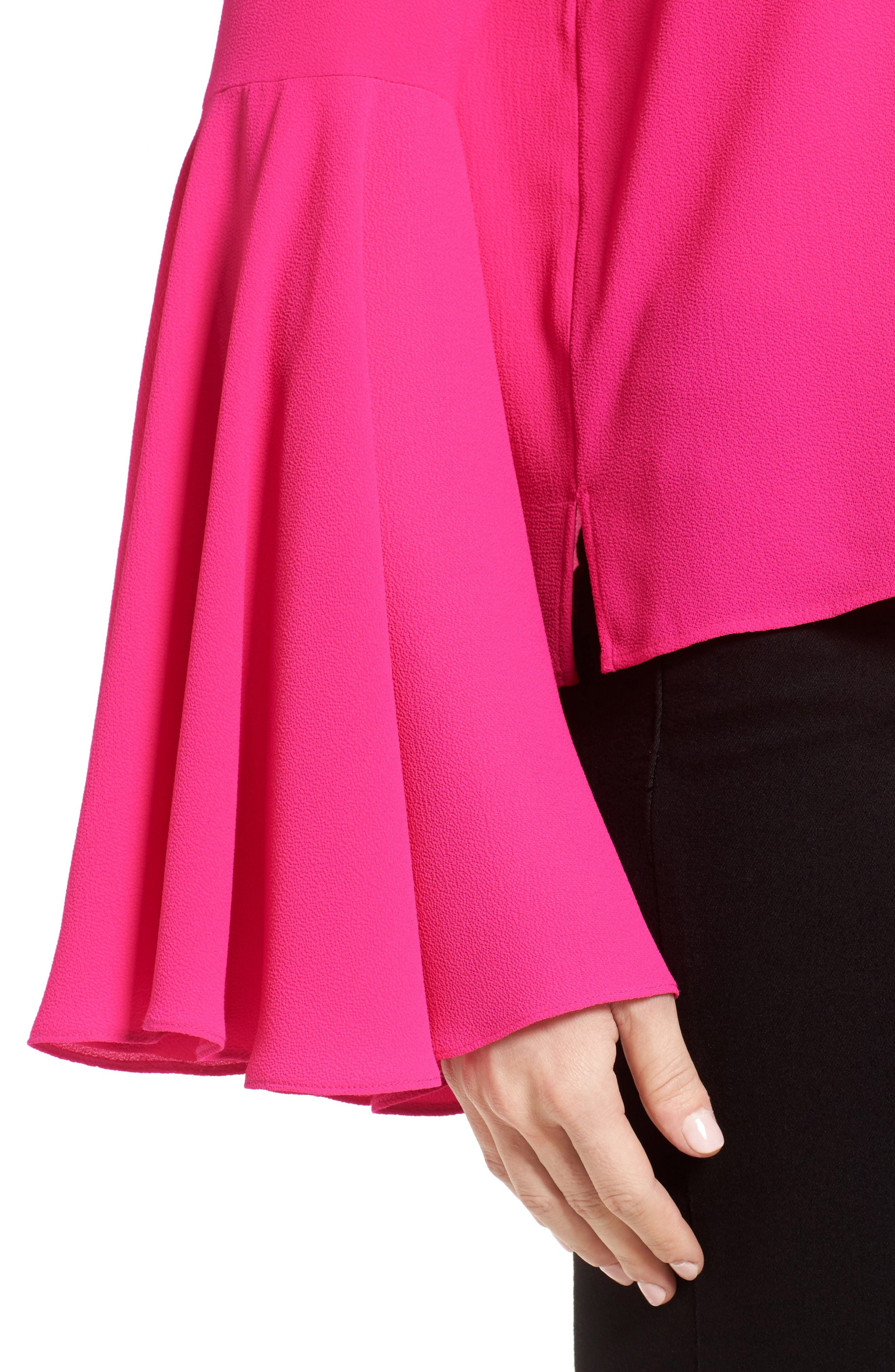 Alternate Image 4  - Vince Camuto Bell Sleeve Blouse