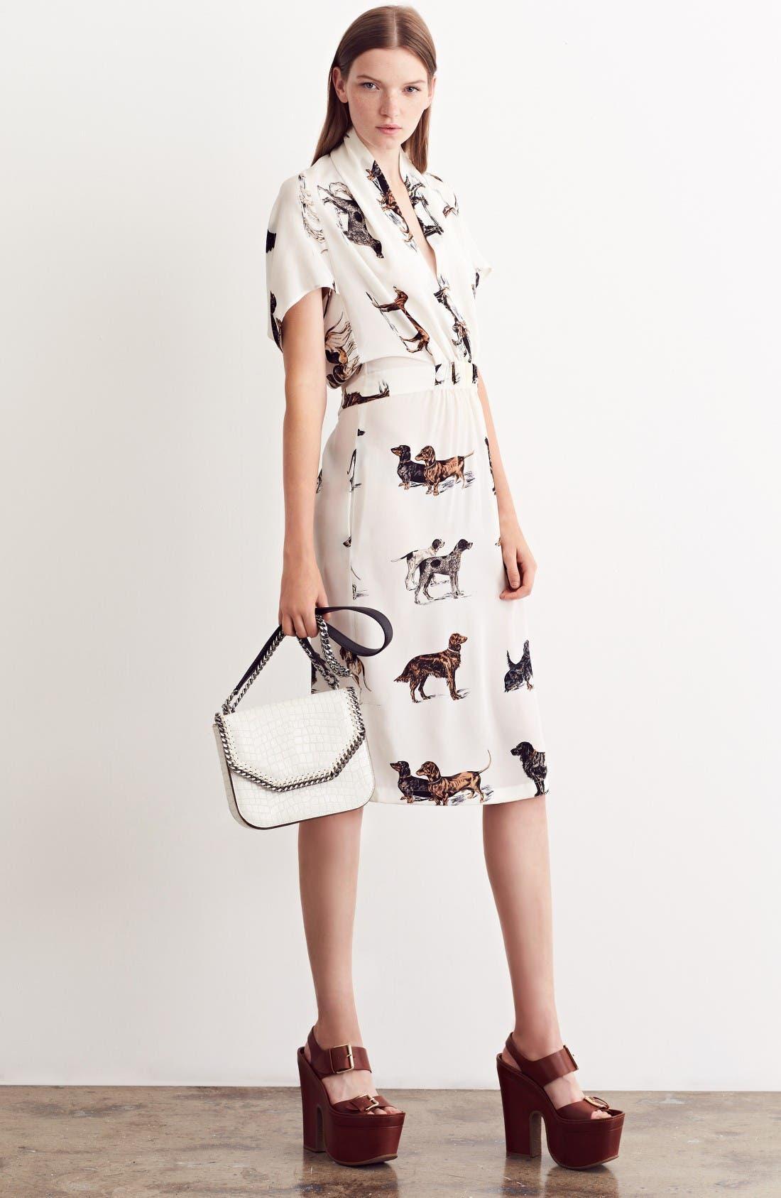 Alternate Image 7  - Stella McCartney Dog Print Silk Dress