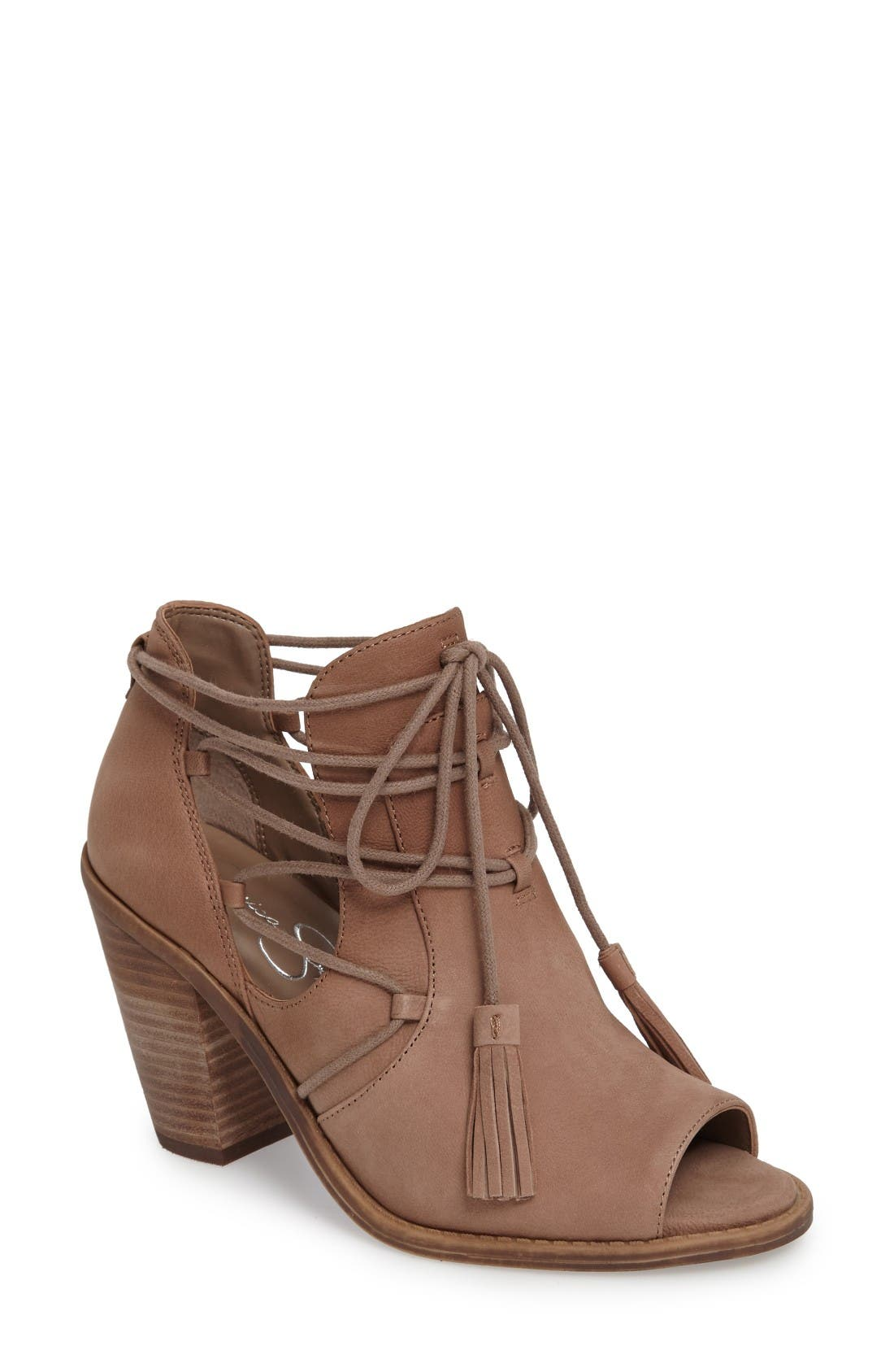 JESSICA SIMPSON Ceri Split Shaft Open Toe Bootie