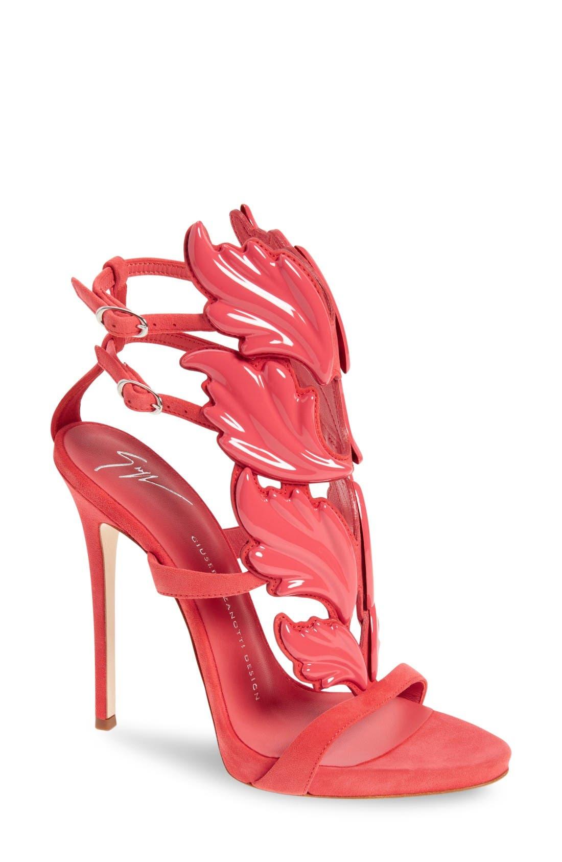 Alternate Image 1 Selected - Giuseppe Zanotti 'Coline' Winged Sandal (Women)
