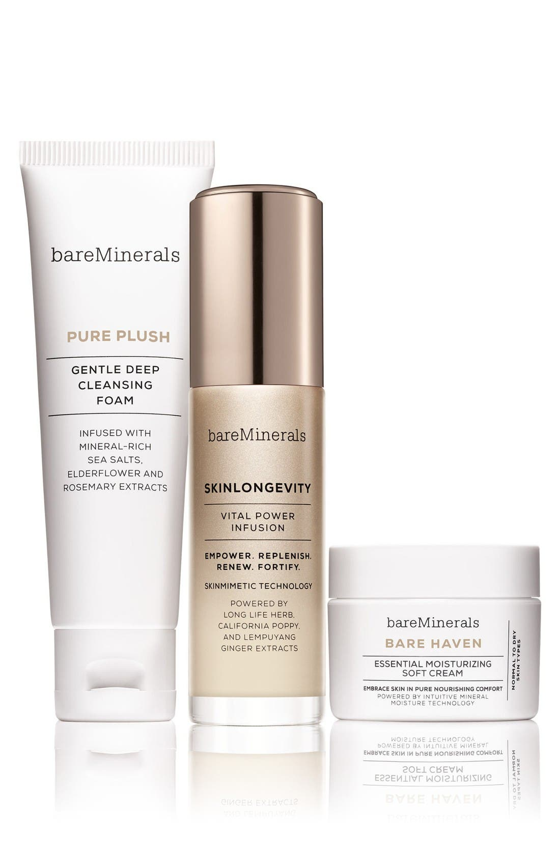 Main Image - bareMinerals® Skinsorials Three-Piece Skin Care Ritual for Normal to Dry Skin (Limited Edition) ($86 Value)