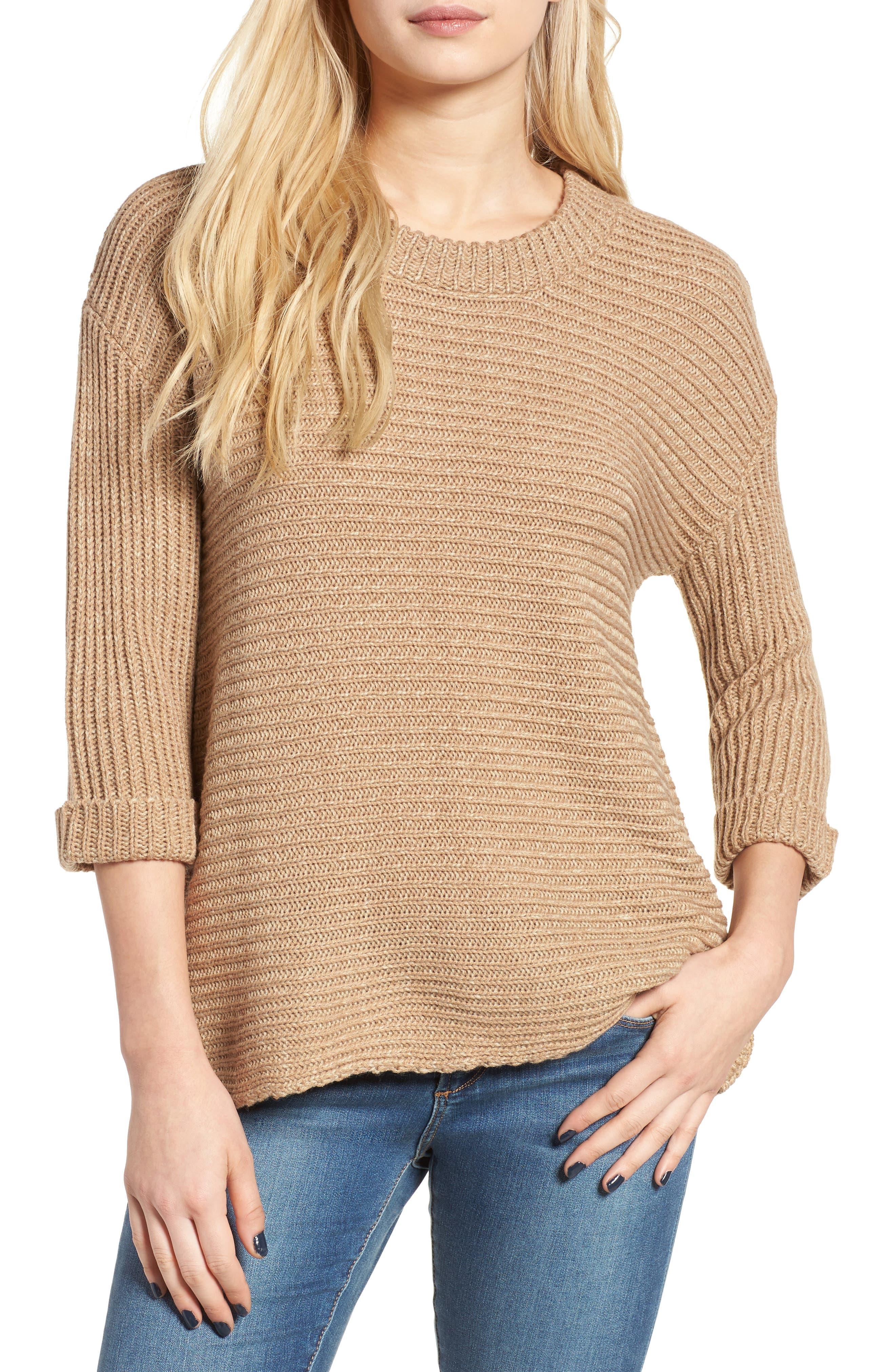Alternate Image 1 Selected - Cotton Emporium Texture Knit Pullover