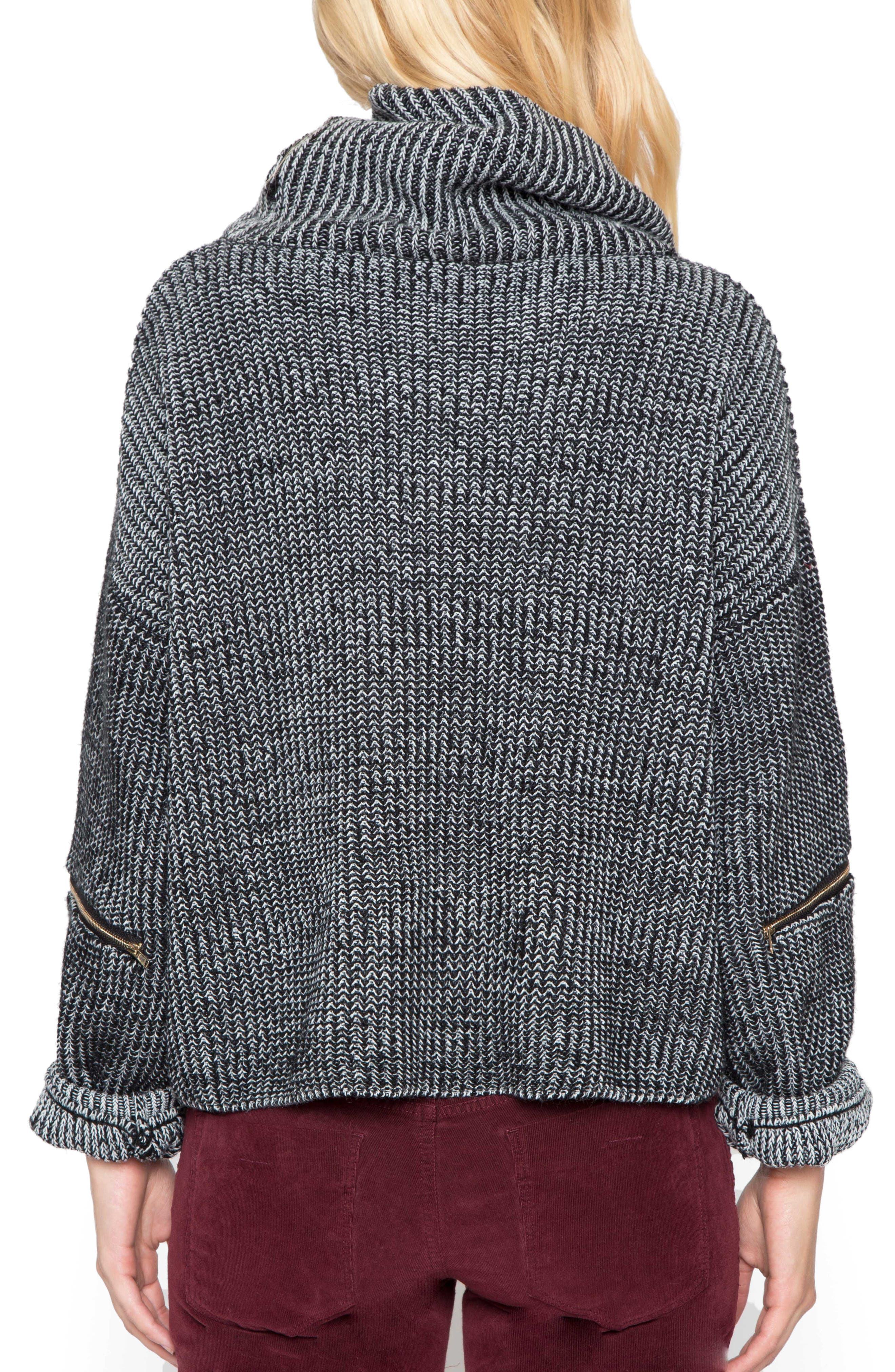 Alternate Image 2  - Willow & Clay Cowl Neck Crop Sweater