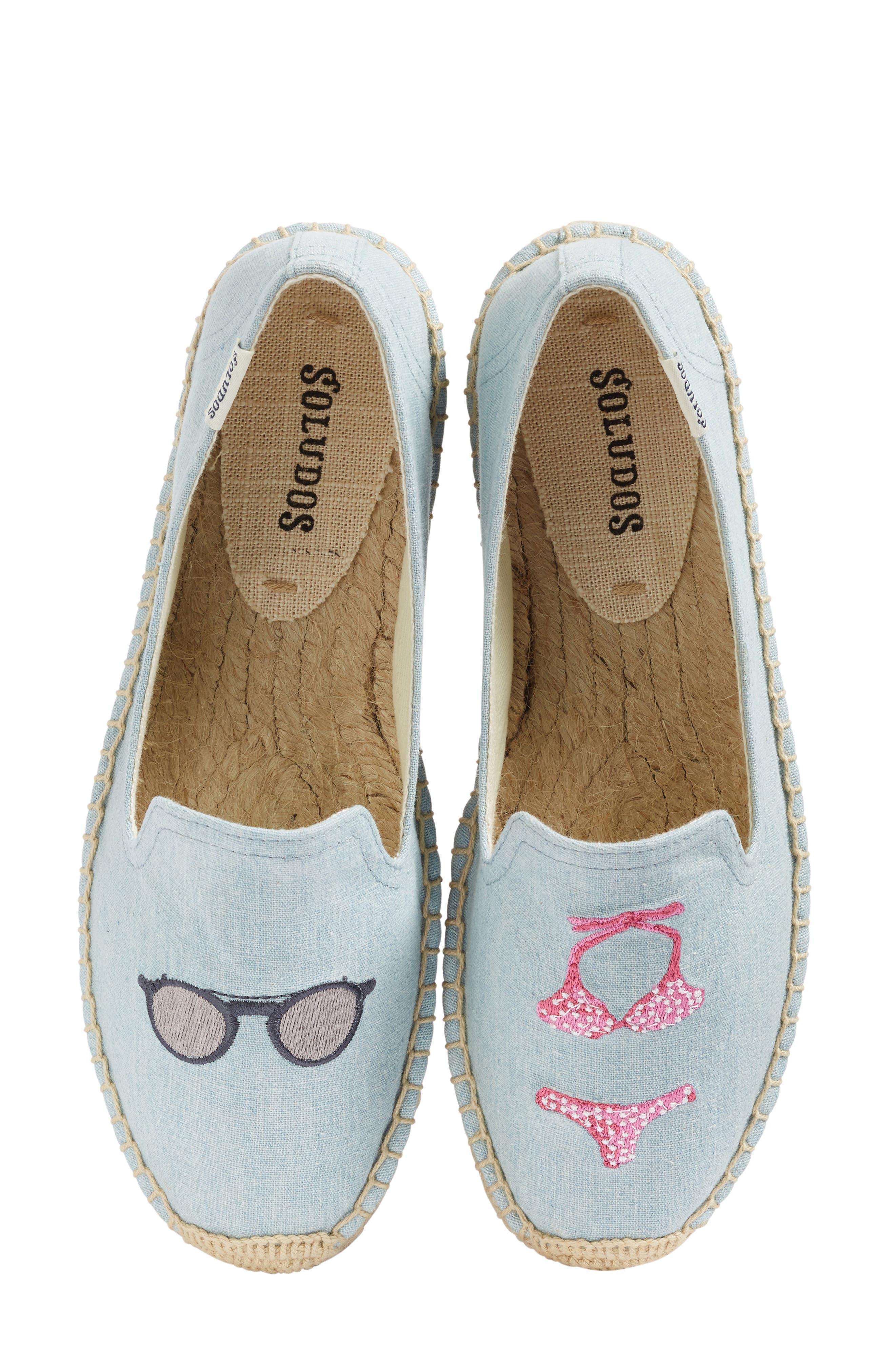 Soludos Embroidered Smoking Slipper Flat (Women)