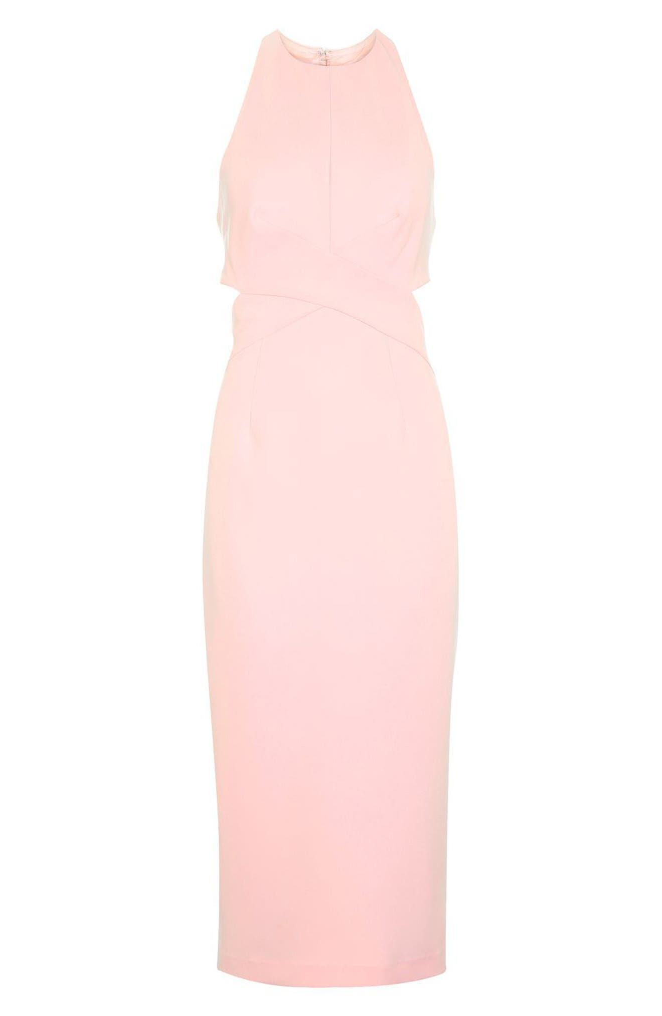 Alternate Image 5  - Topshop Cutout Midi Dress