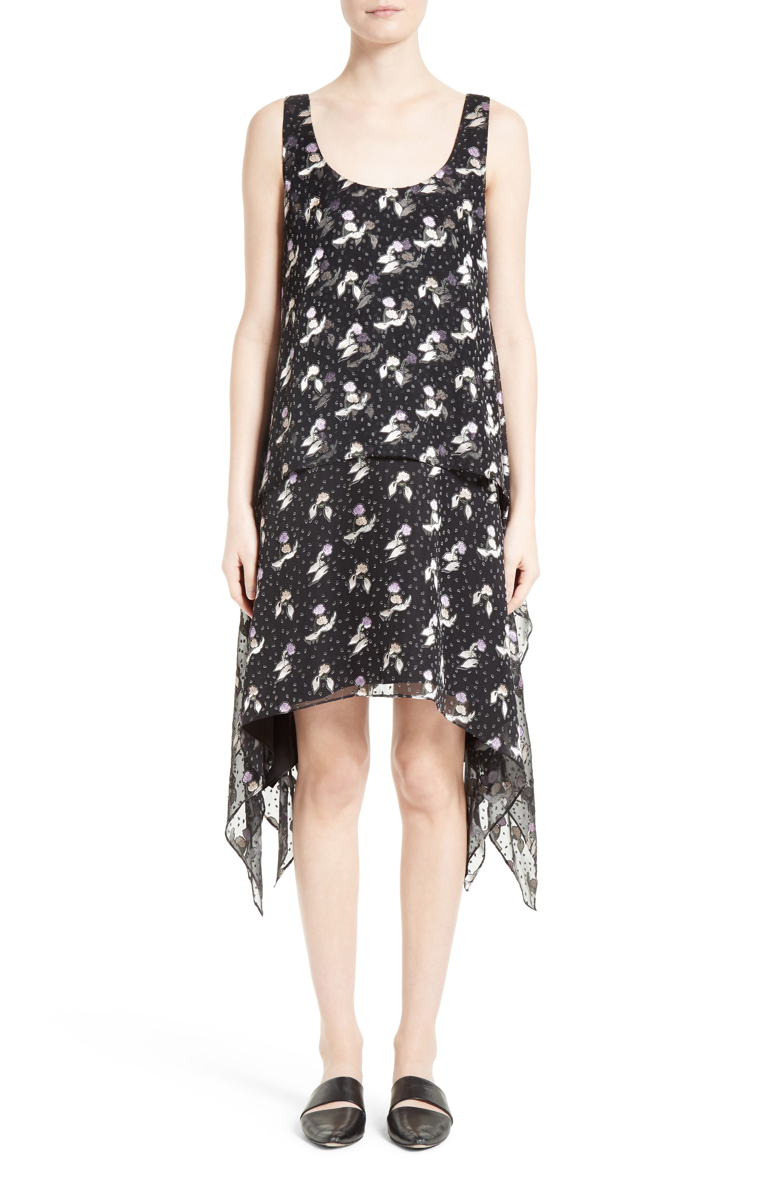 OPENING CEREMONY Gestures Burnout Handkerchief Dress