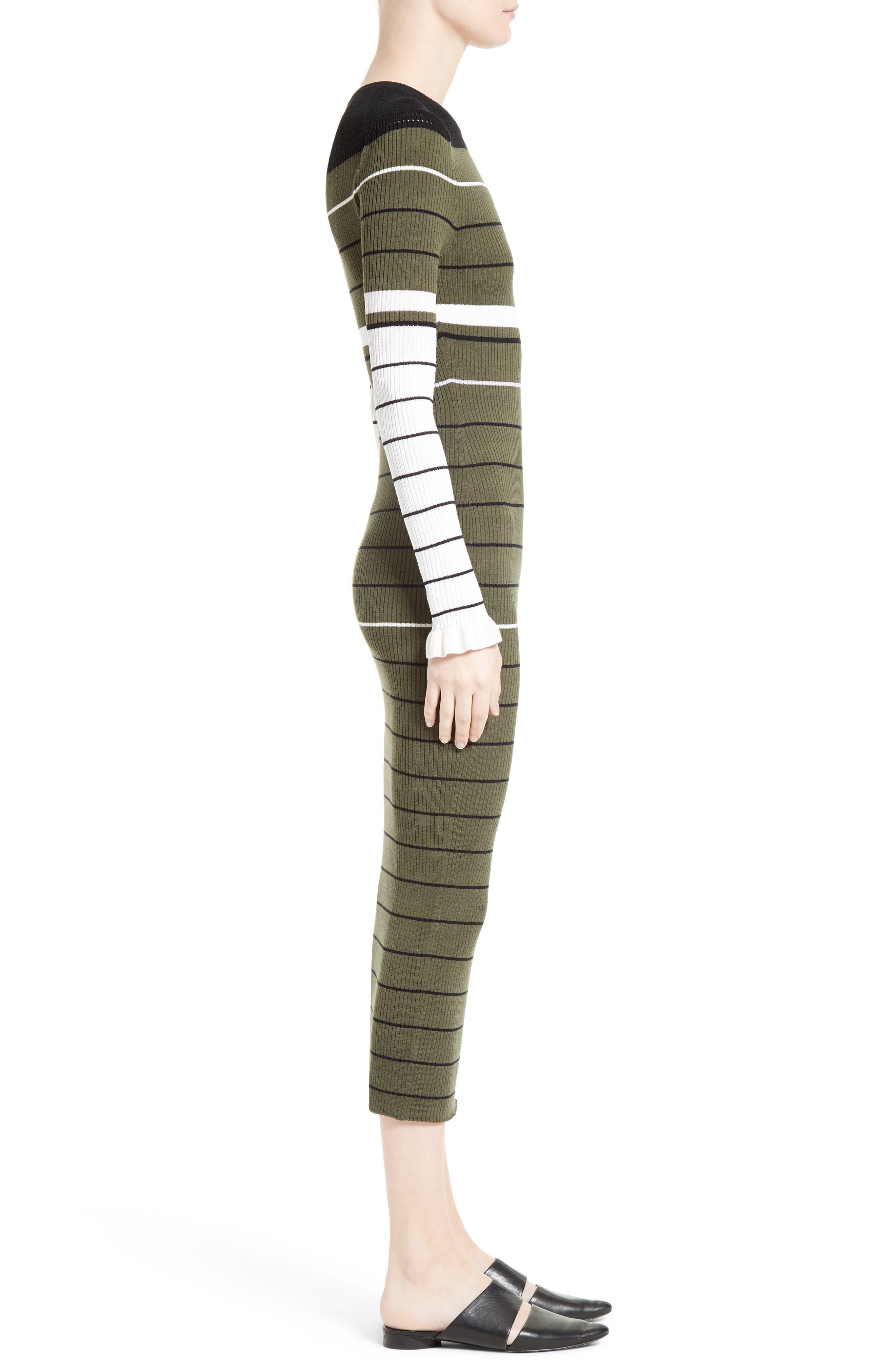 Alternate Image 3  - Opening Ceremony Stripe Rib Knit Dress