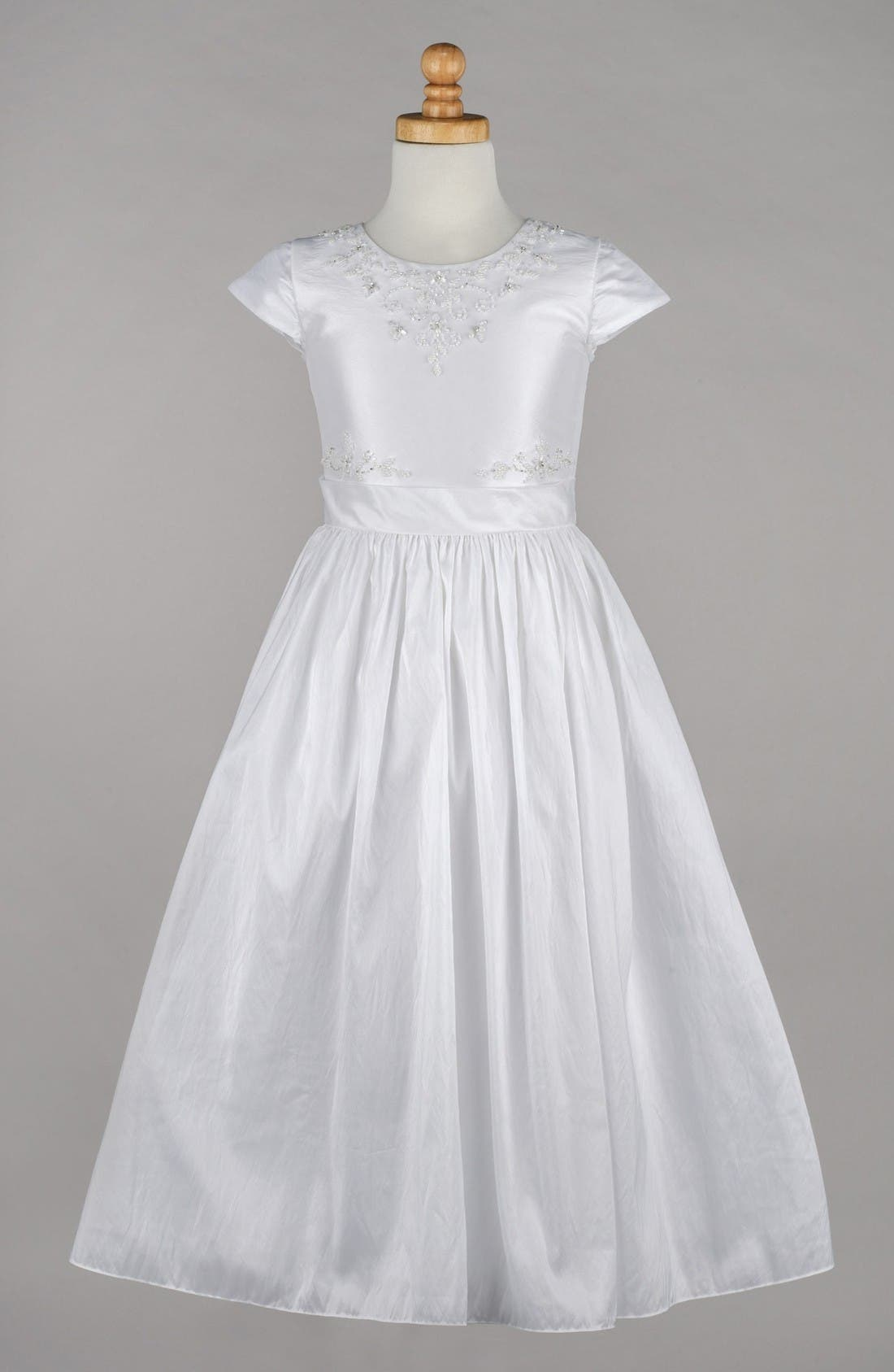 Lauren Marie Beaded Taffeta First Communion Dress (Little Girls & Big Girls)