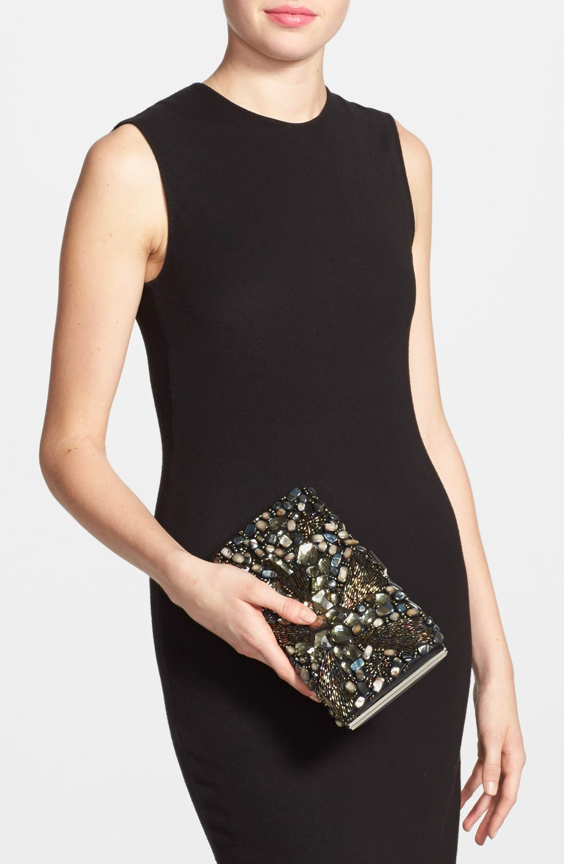 Alternate Image 2  - Natasha Couture Beaded Crystal Clutch