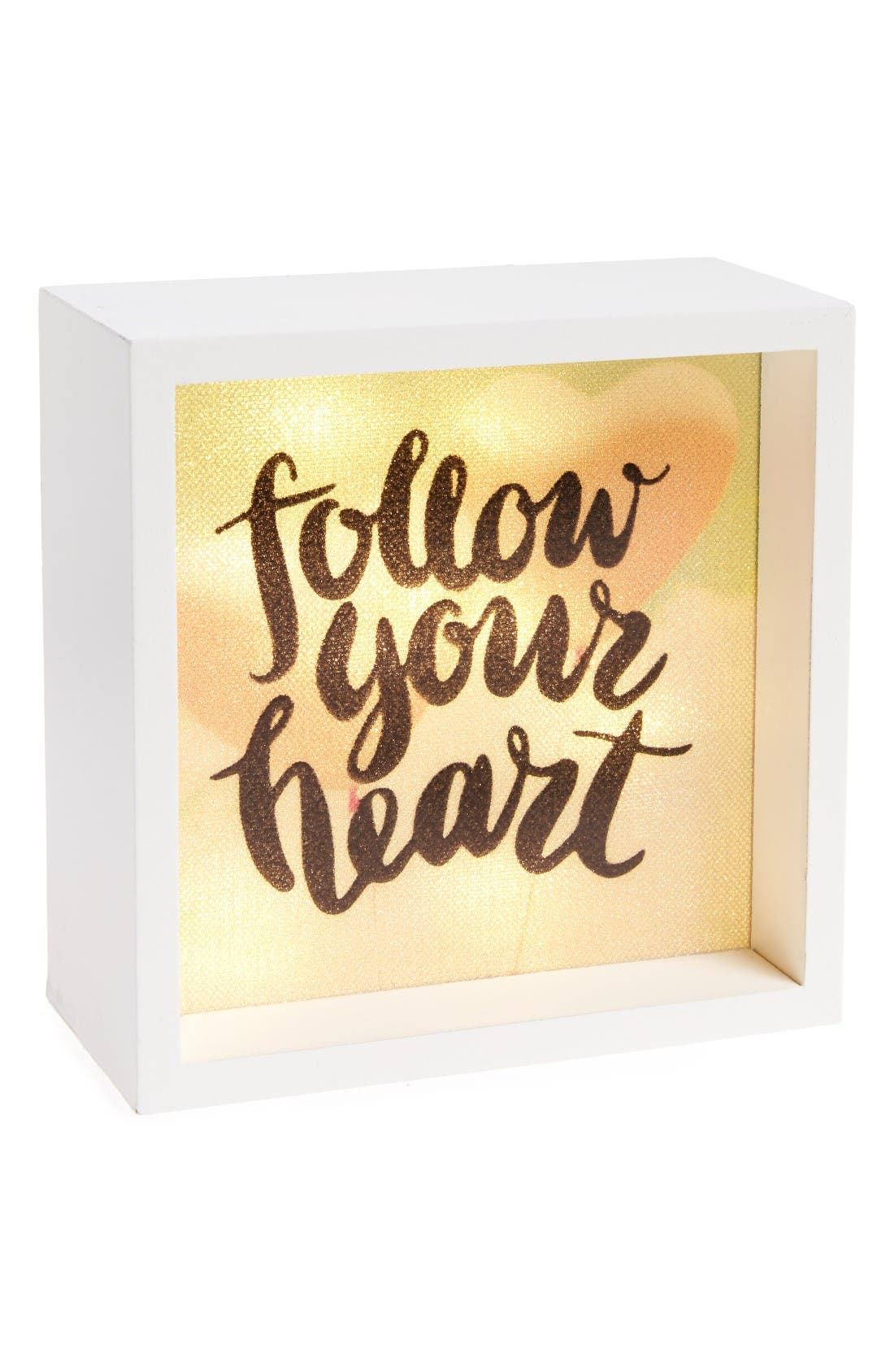 Alternate Image 1 Selected - LightBoxArts Follow Your Heart Lighted Tabletop Art