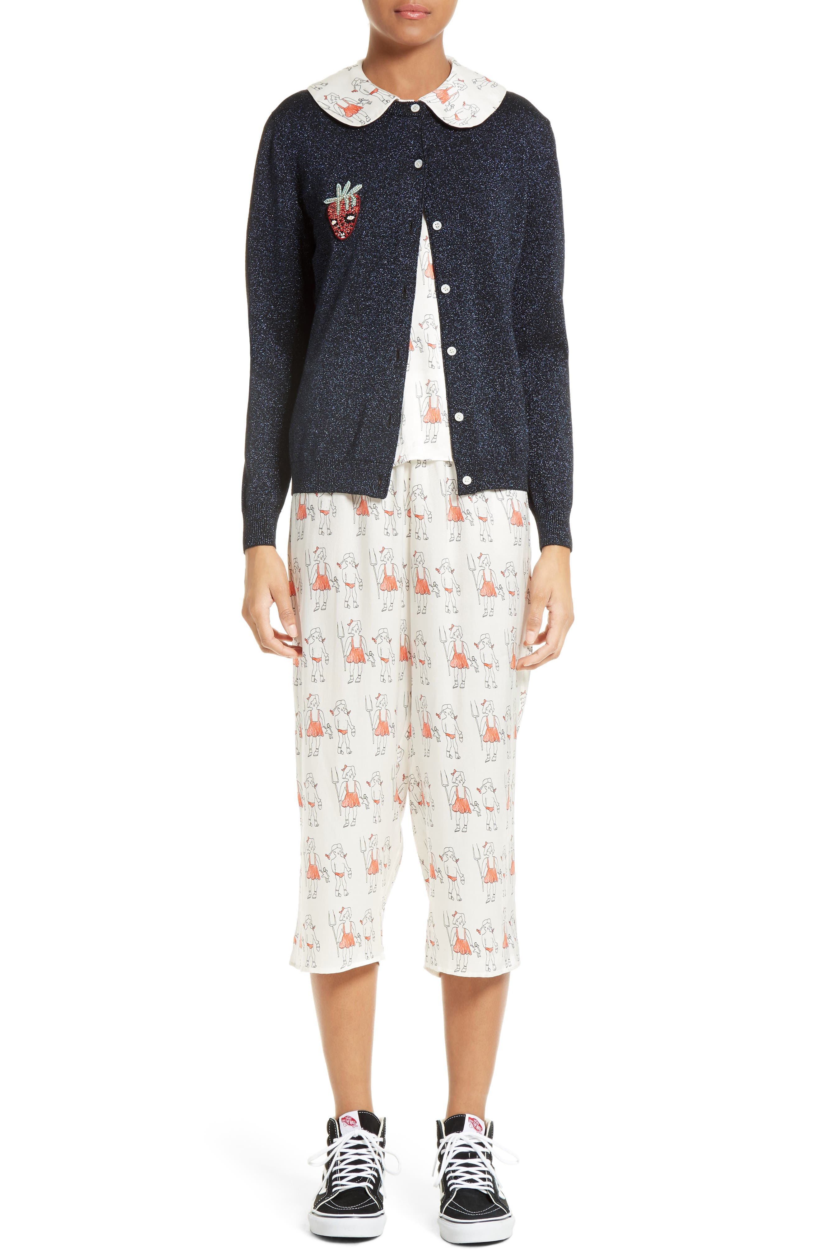 Alternate Image 7  - Shrimps Dagobert Silk Pajama Pants