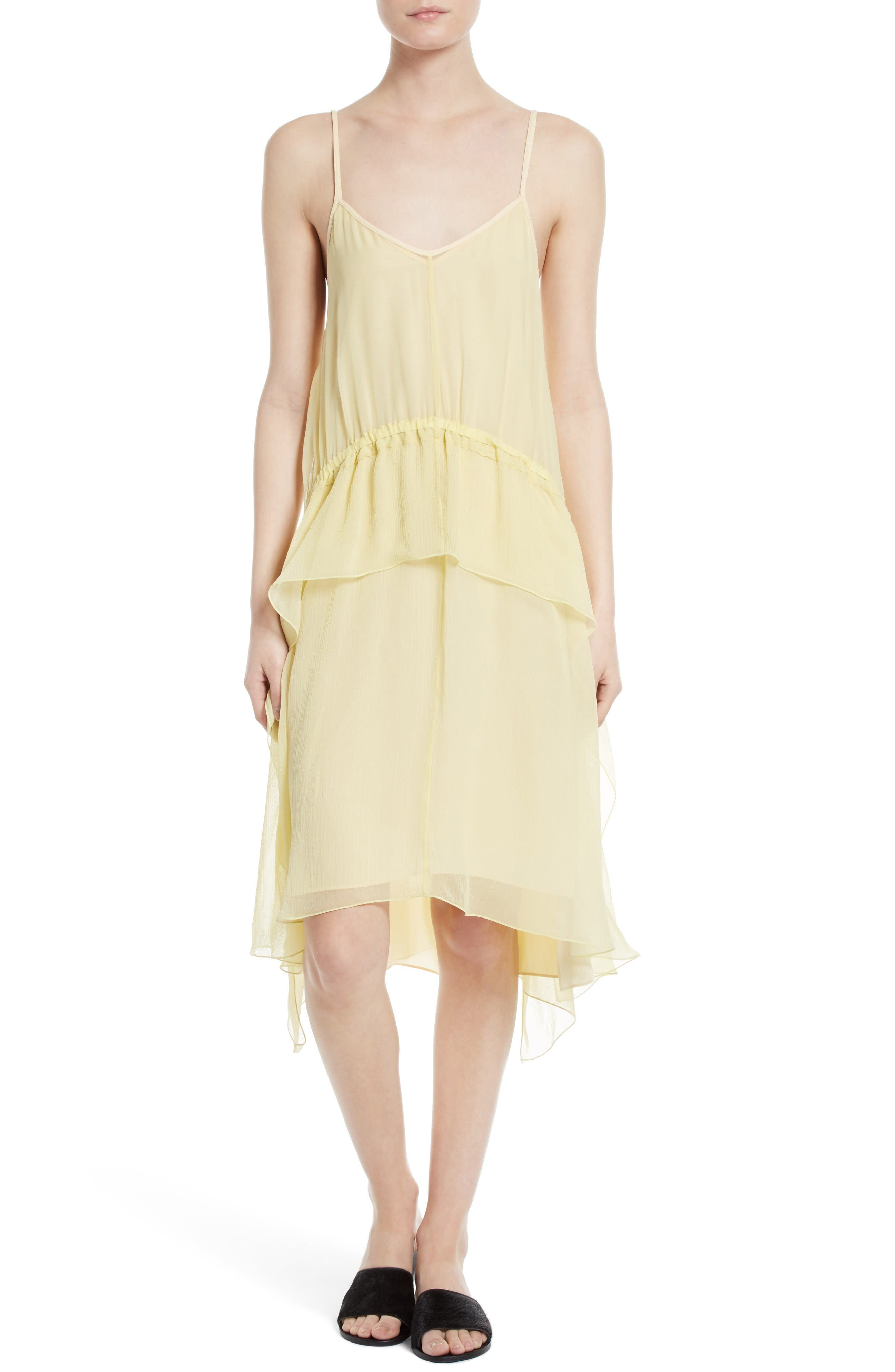 Elizabeth and James Cynthia Ruffle Silk Dress