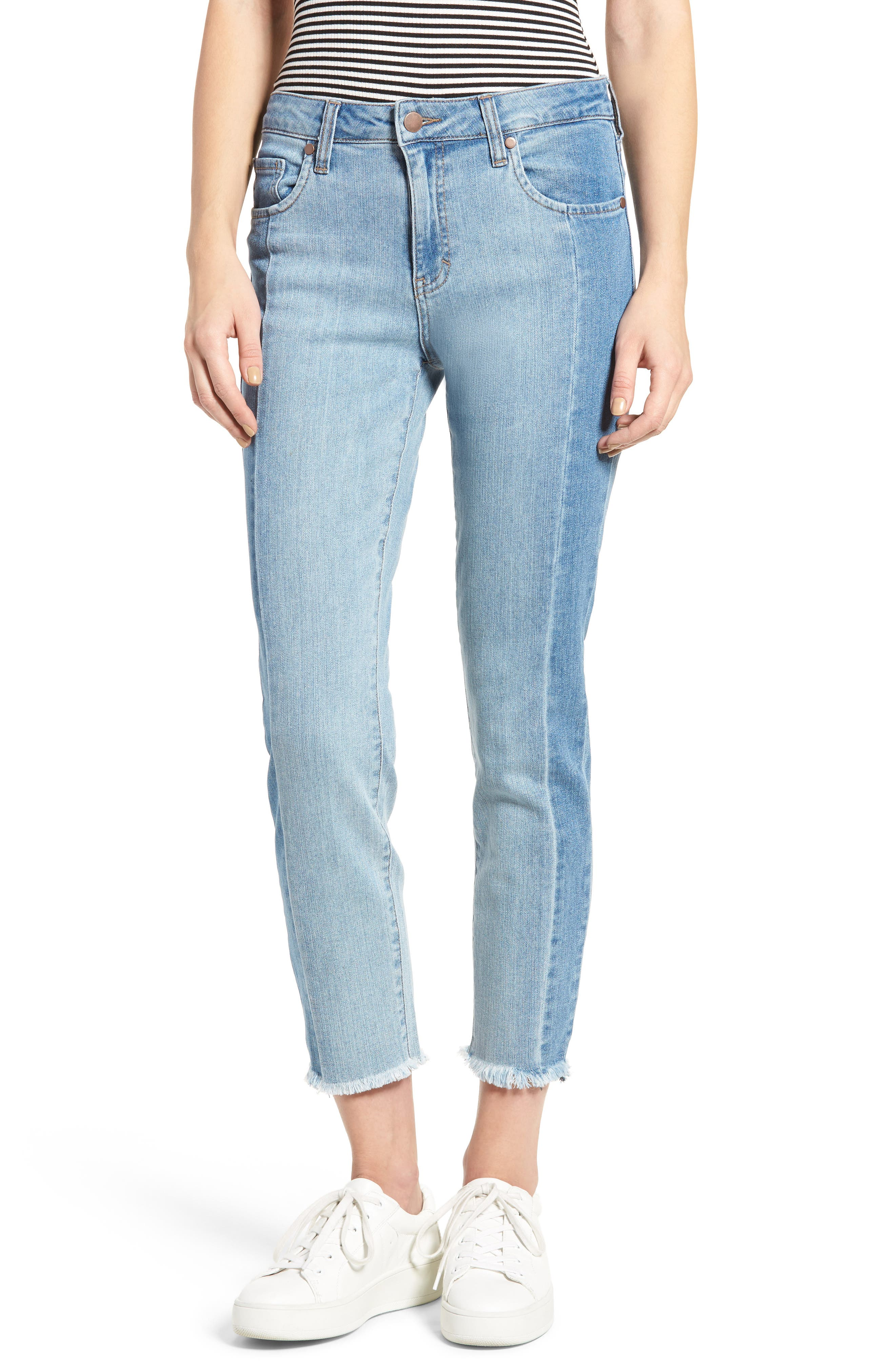 Main Image - BP. Straight Colorblock Jeans