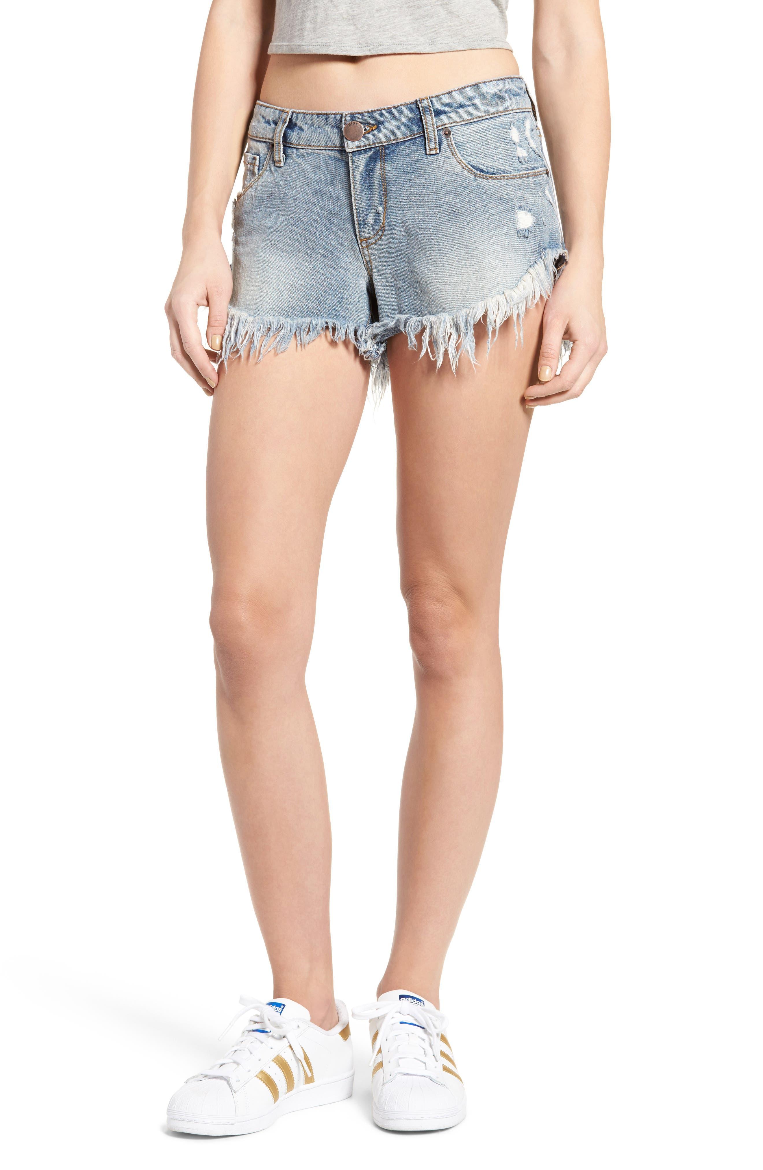 STS BLUE Frayed Hem Denim Shorts