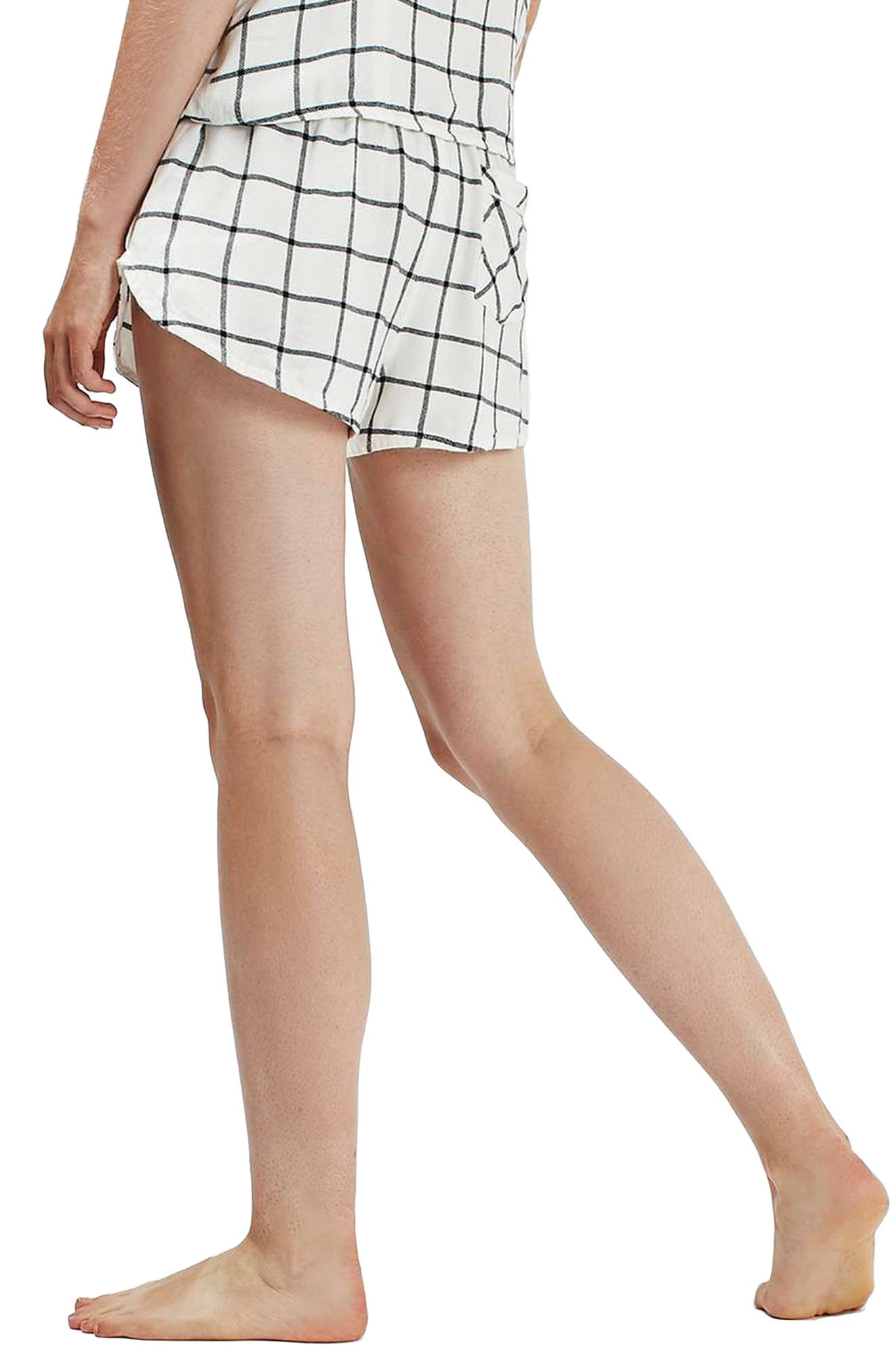 Alternate Image 3  - Topshop Windowpane Check Pajama Shorts