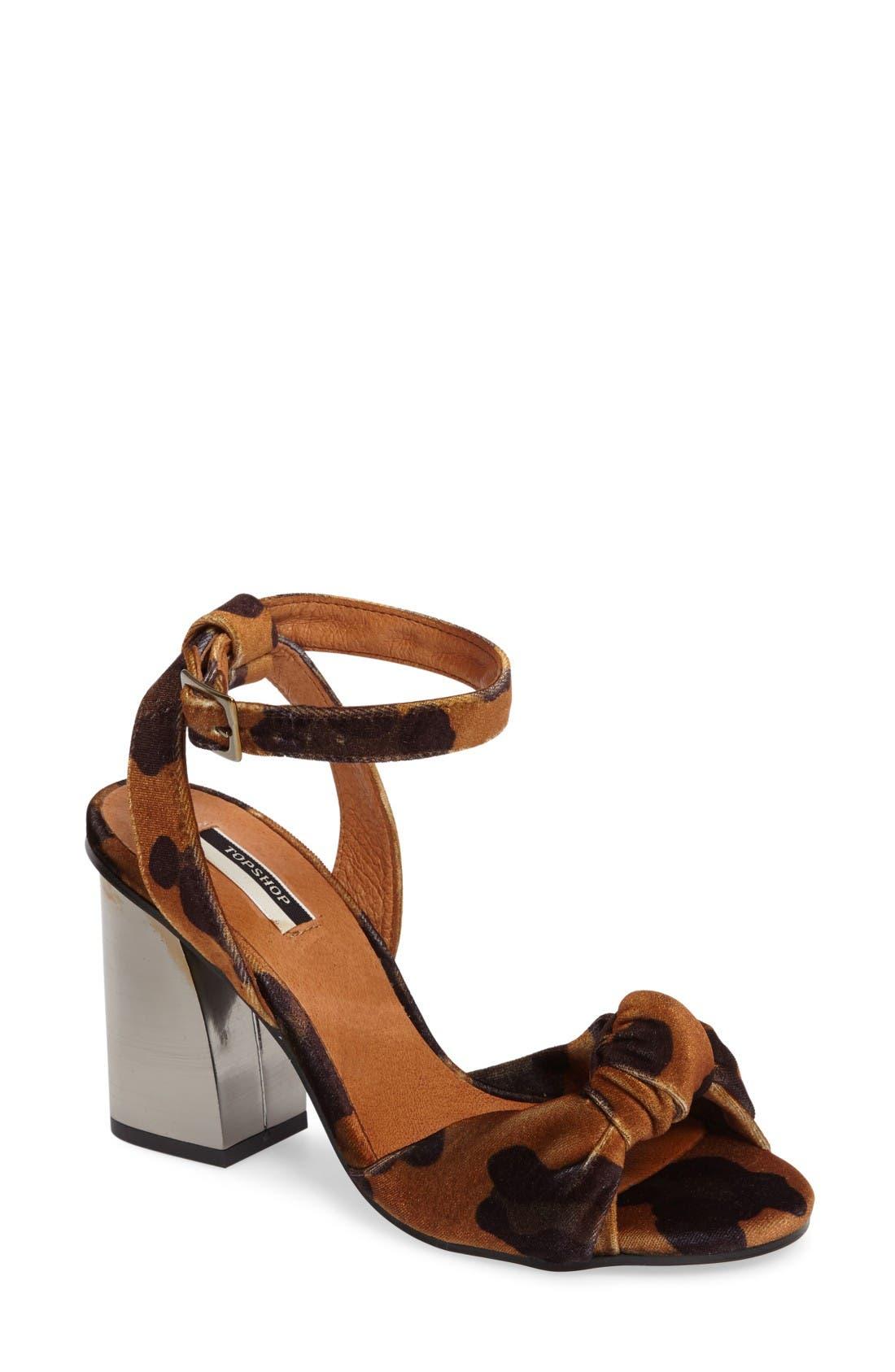 Topshop Rocksy Ankle Strap Sandal (Women)