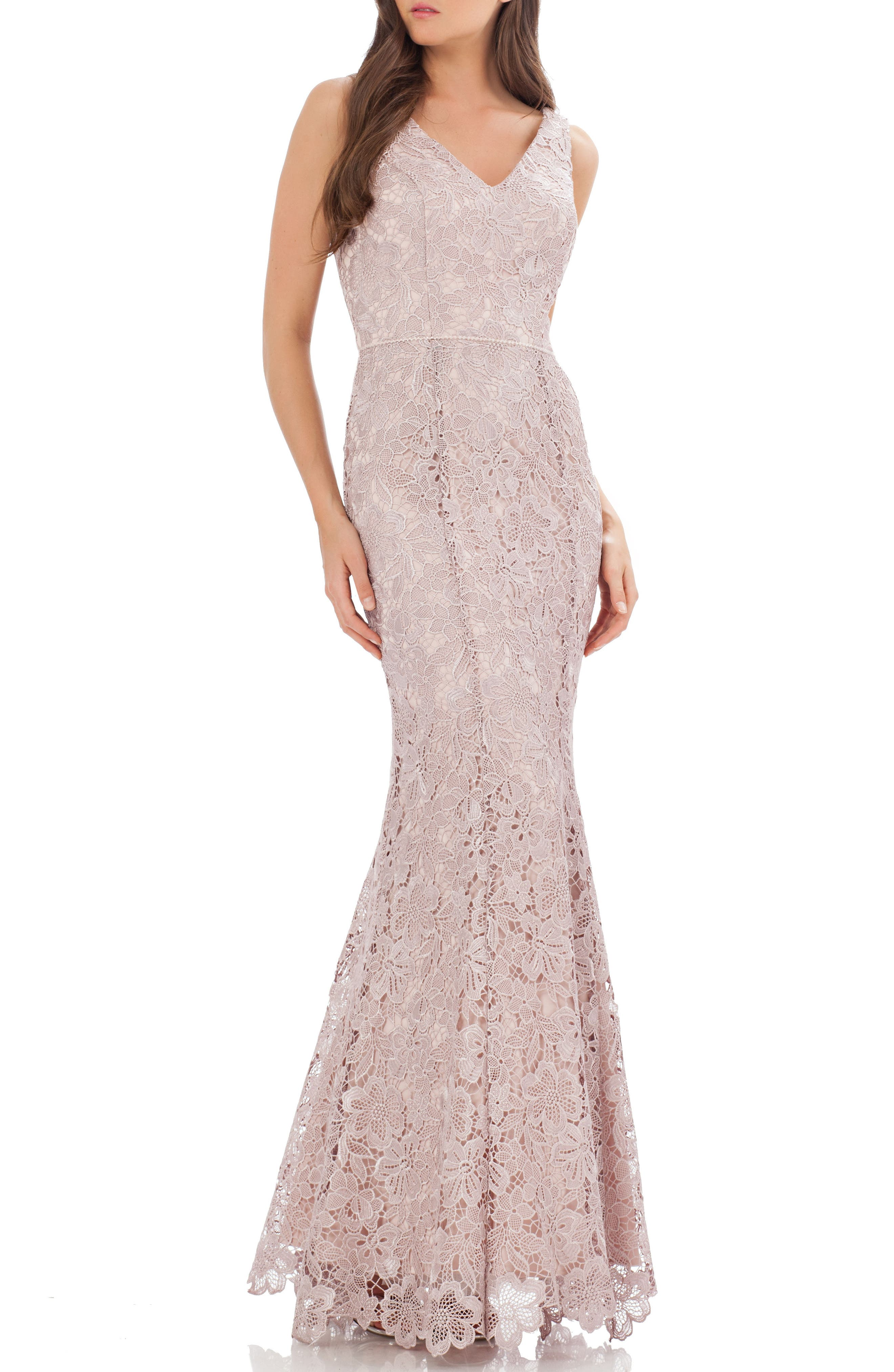 JS Collections Lace Mermaid Gown (Regular & Petite)