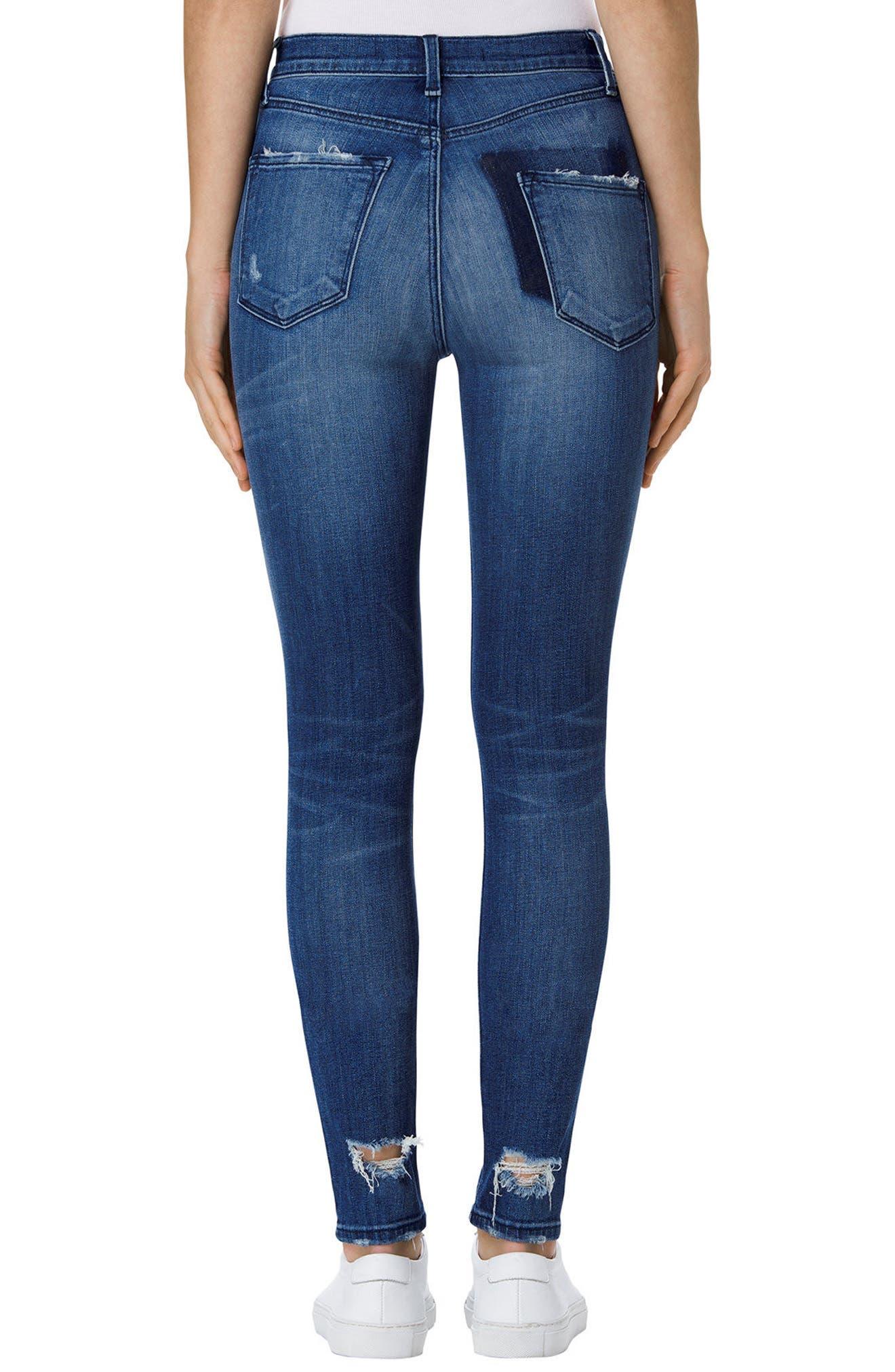Alternate Image 2  - J Brand Carolina Super High Rise Skinny Jeans (Gone)