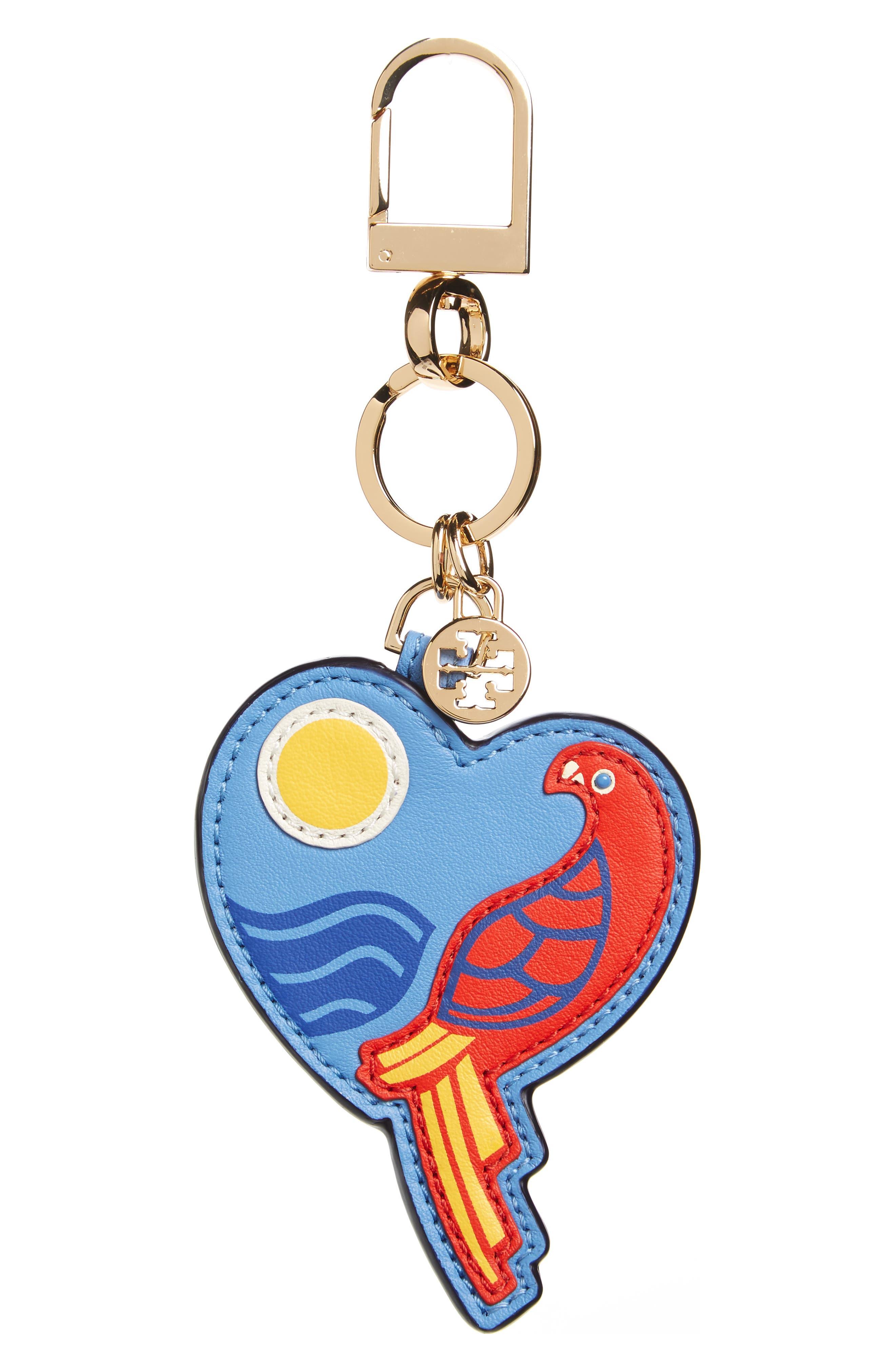 TORY BURCH Parrot Heart Bag Charm