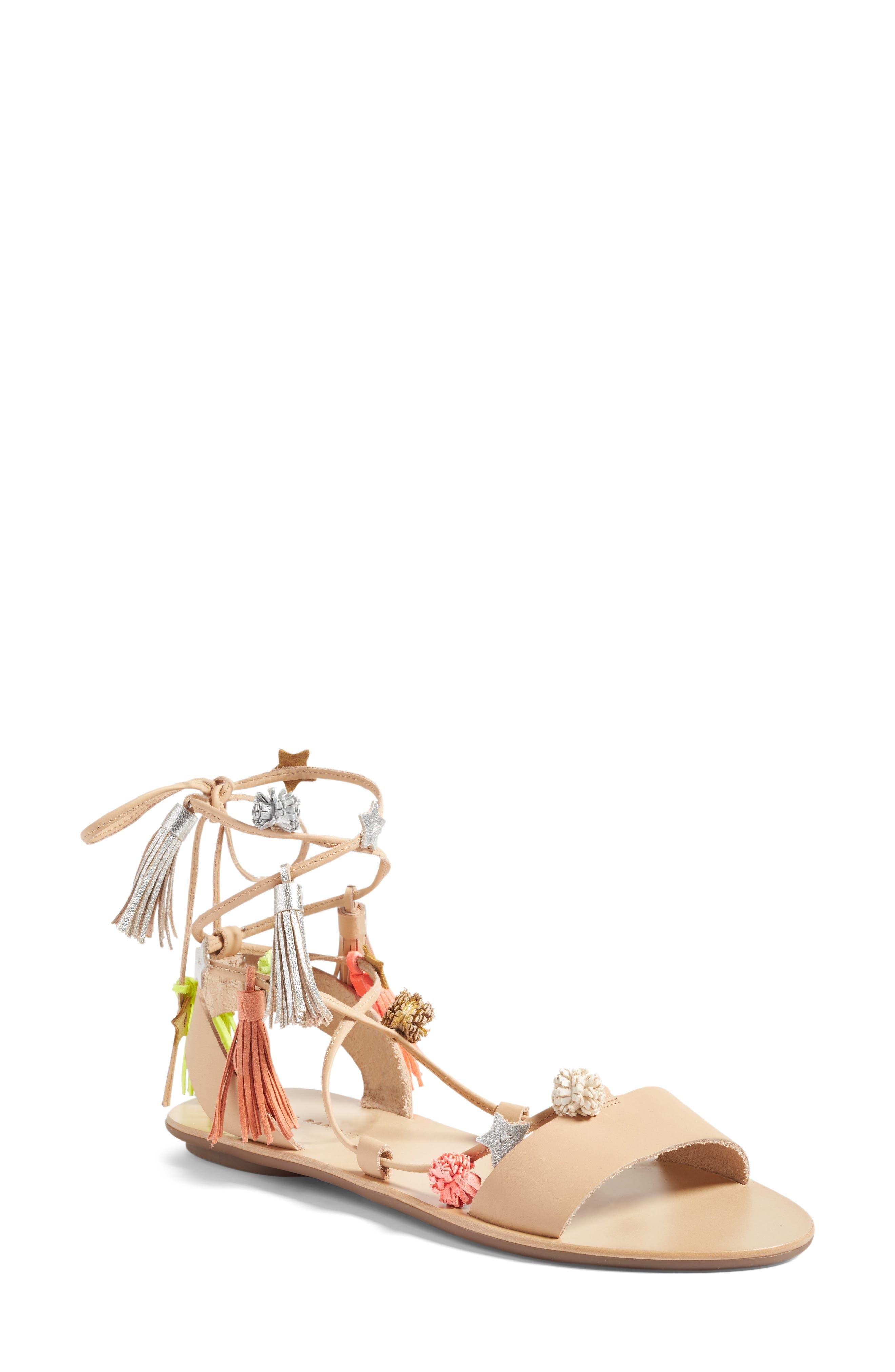 Alternate Image 1 Selected - Loeffler Randall Suze Embellished Wraparound Sandal (Women)