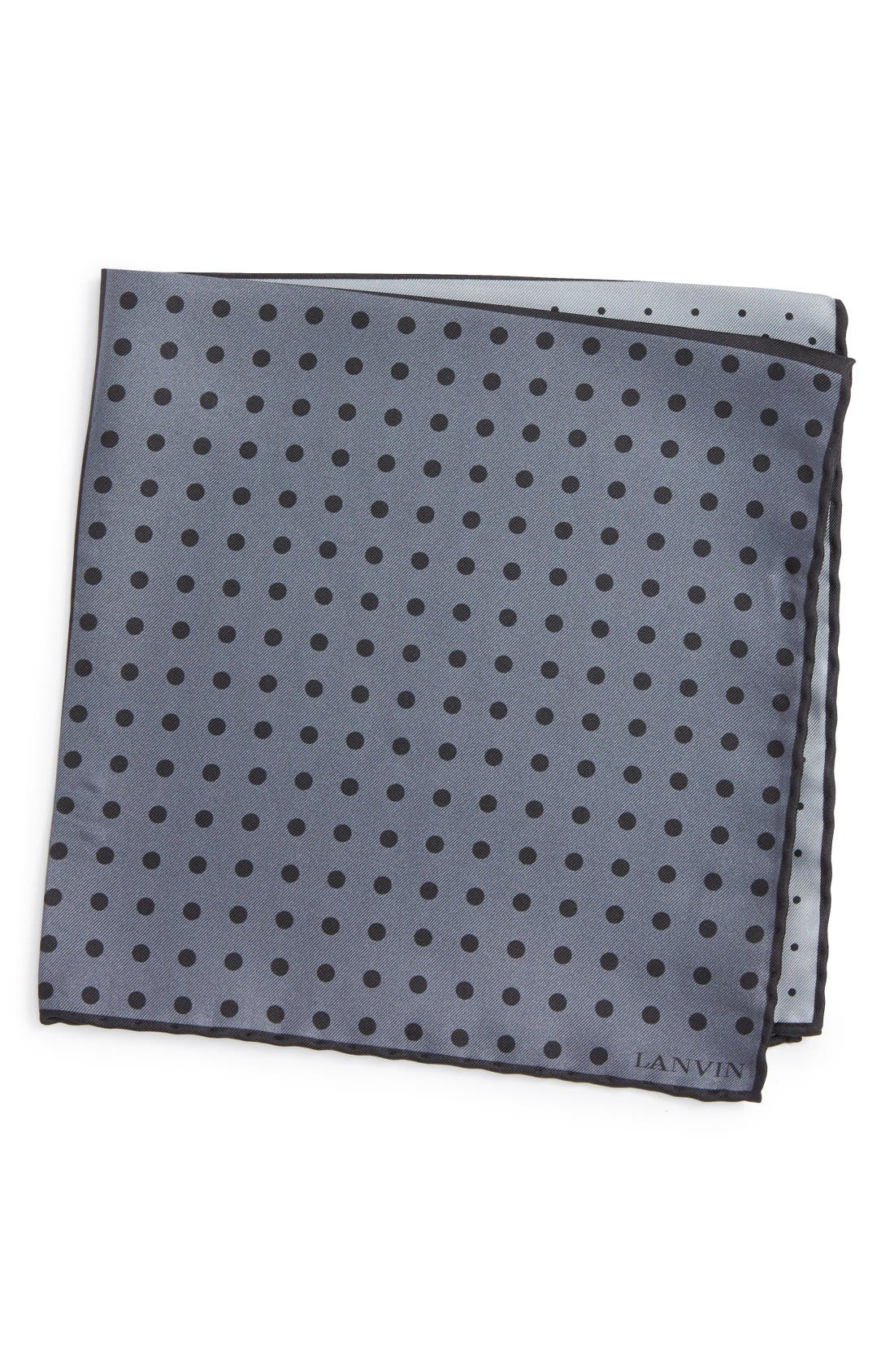 LANVIN Dot Silk Pocket Square