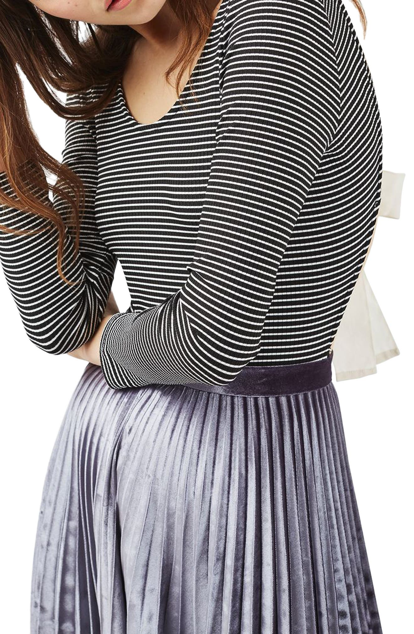 Topshop Stripe Tie Back Bodysuit