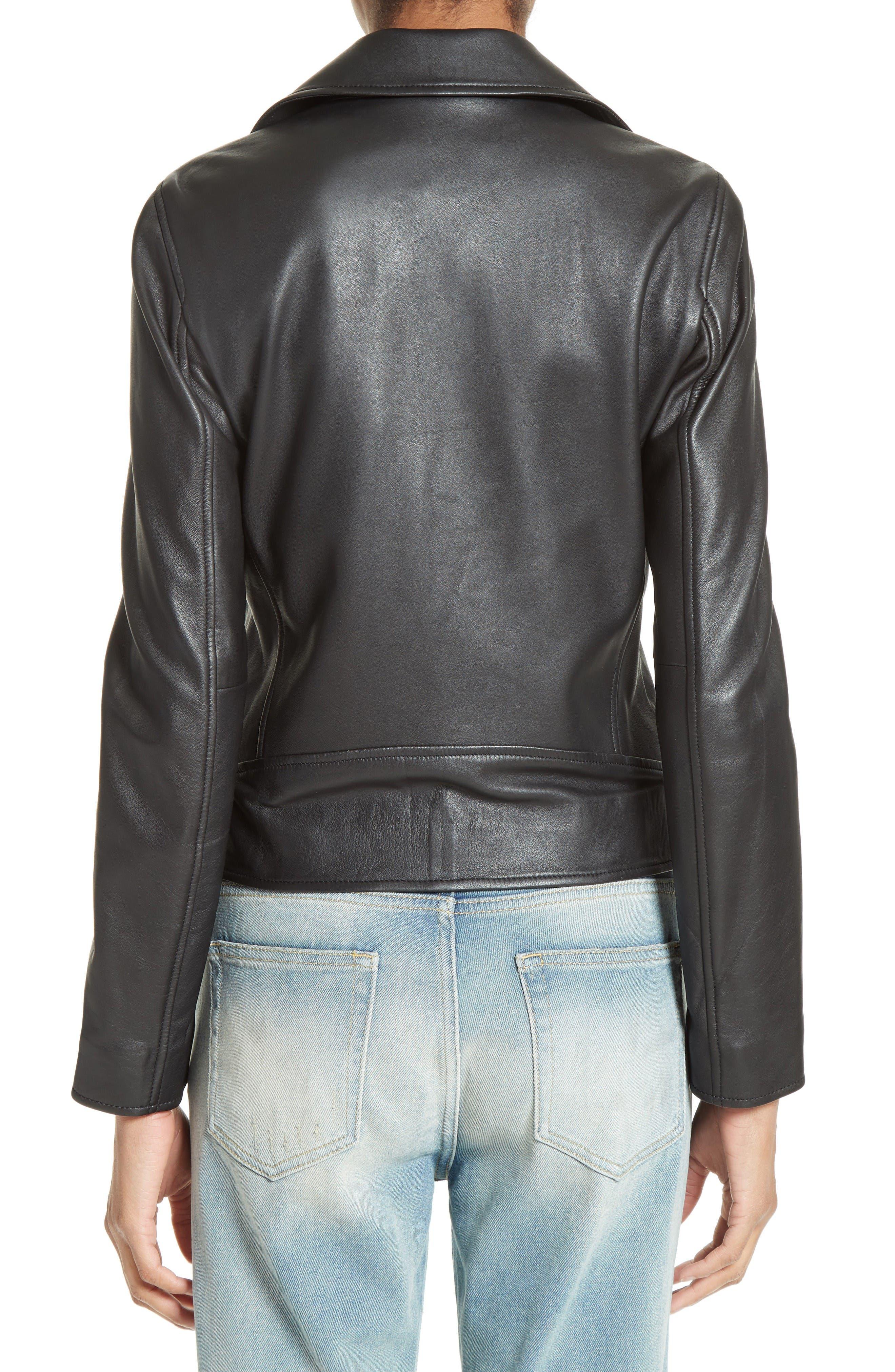 Alternate Image 3  - The Kooples Lambskin Leather Jacket