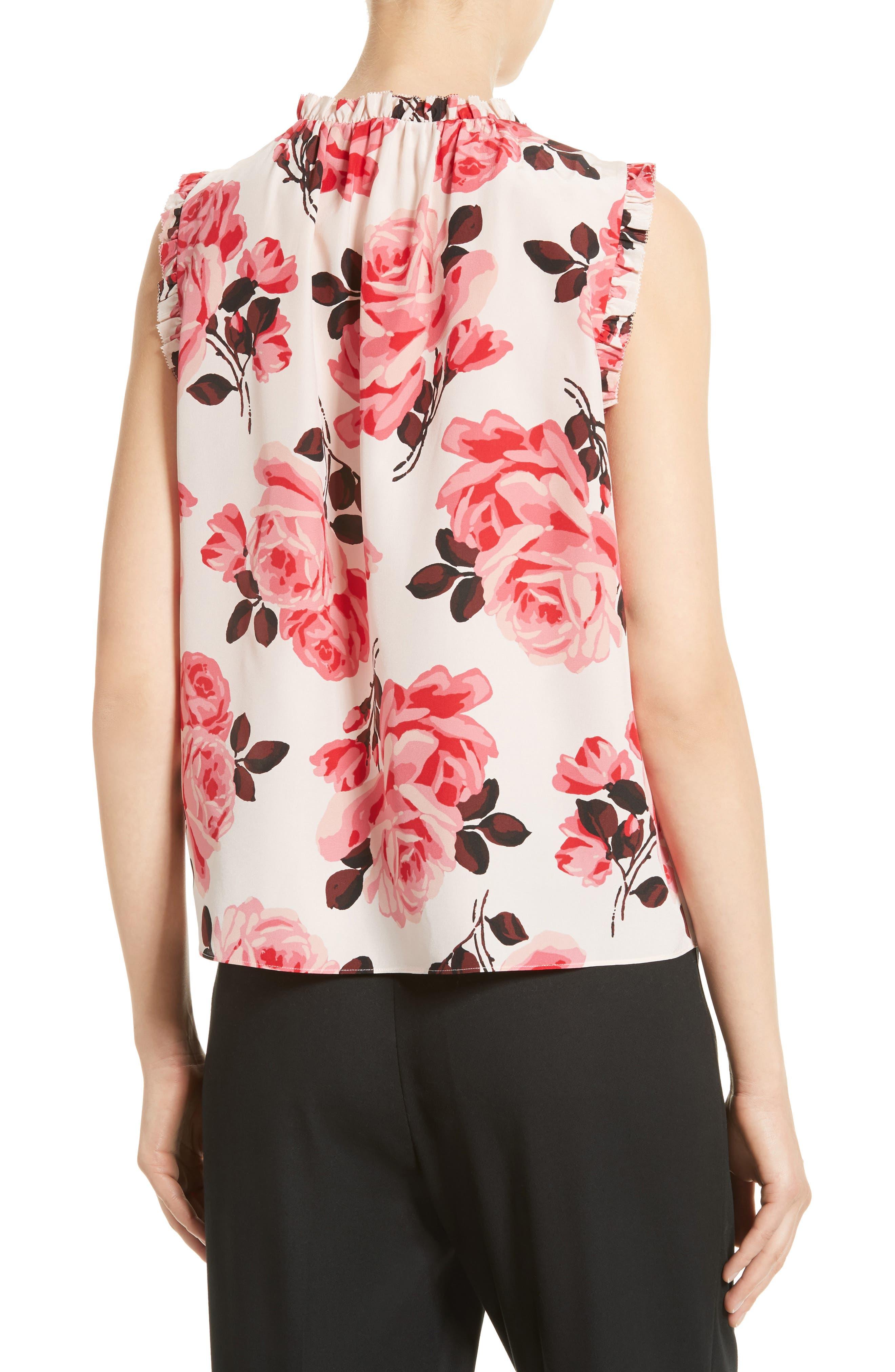 Alternate Image 2  - kate spade new york rosa silk top