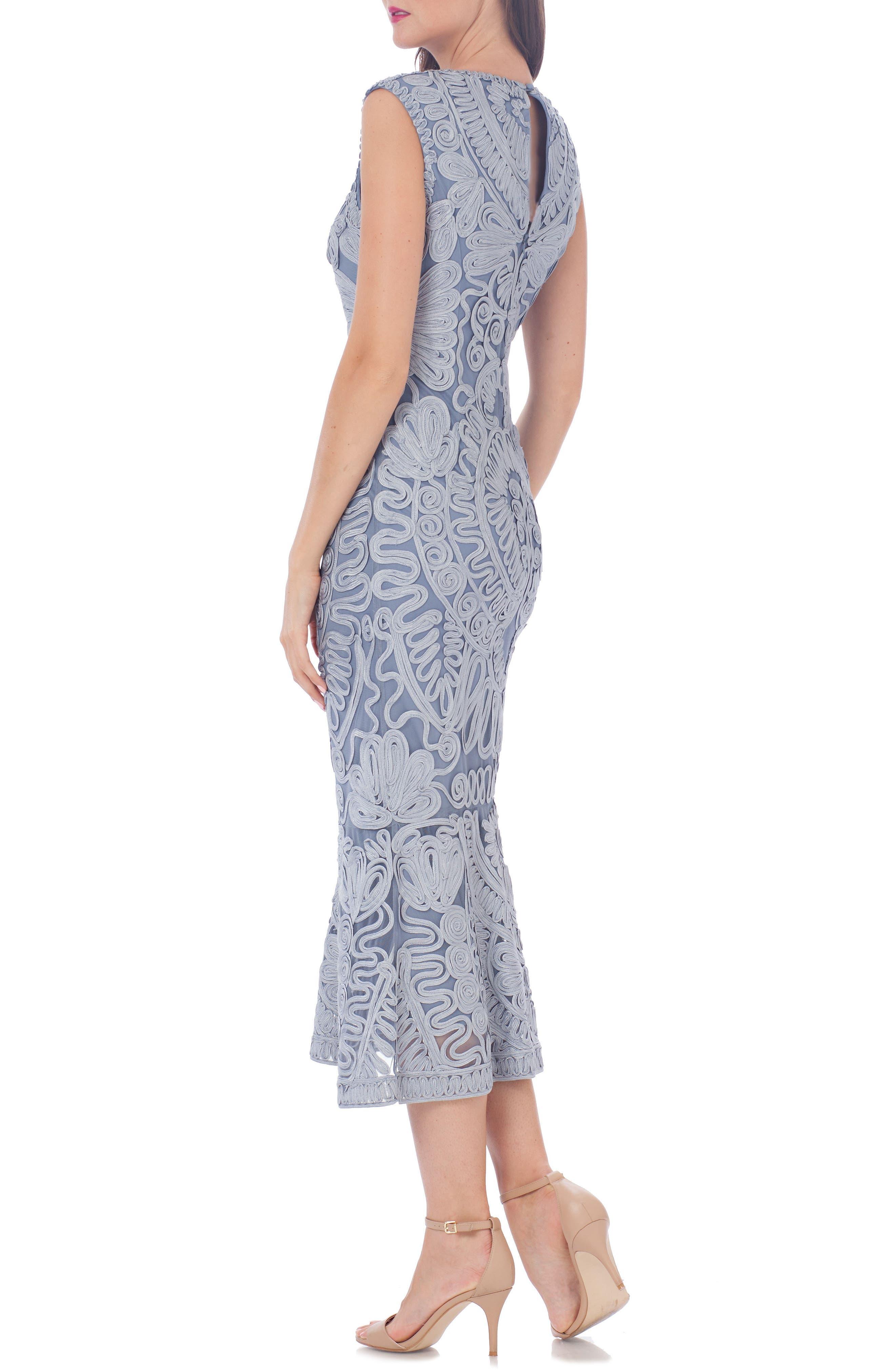Alternate Image 3  - JS Collections Soutache Mesh Dress