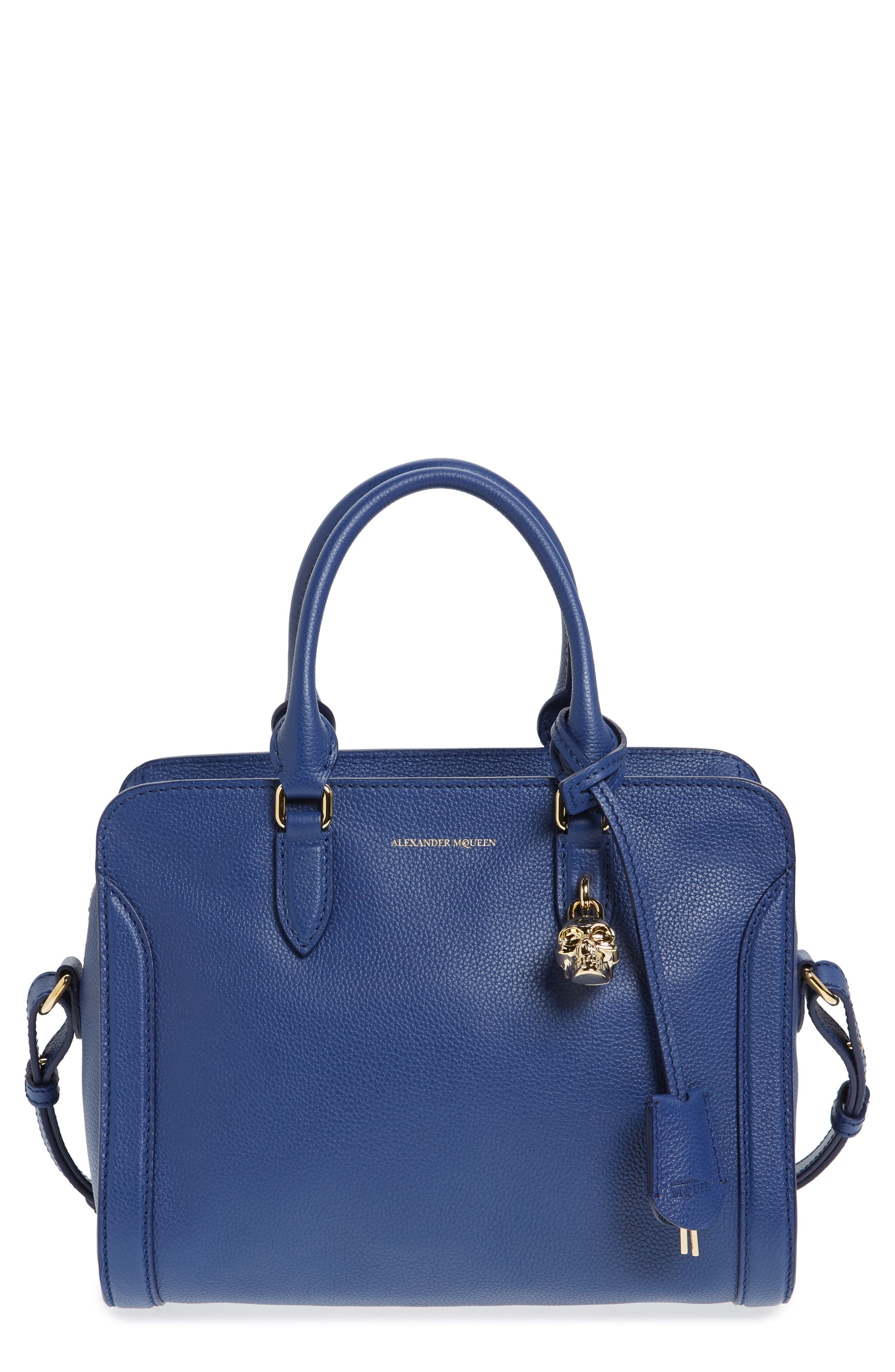 Alternate Image 1 Selected - Alexander McQueen 'Small Padlock' Calfskin Leather Duffel Bag