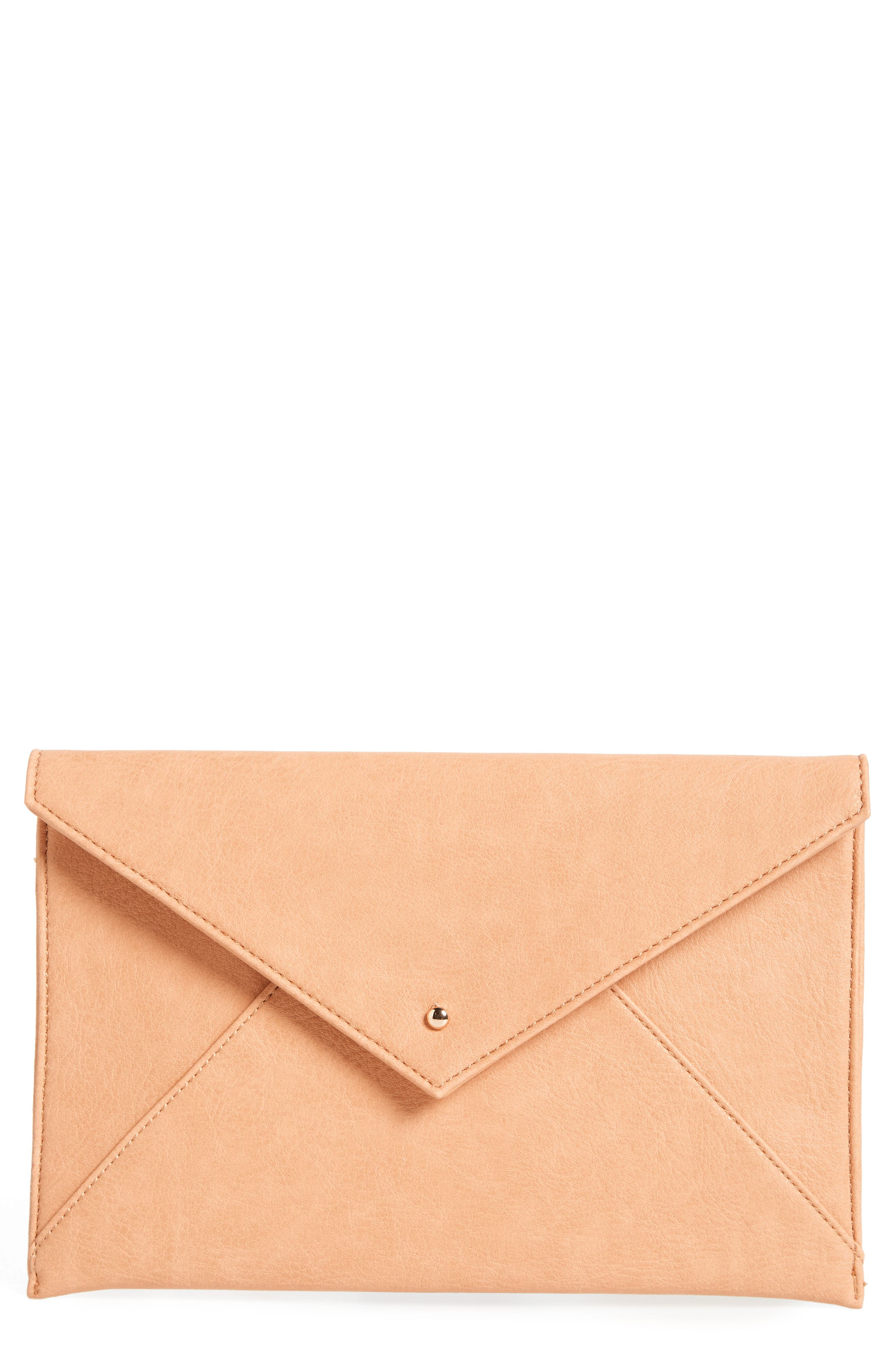 Main Image - BP. Faux Leather Envelope Clutch