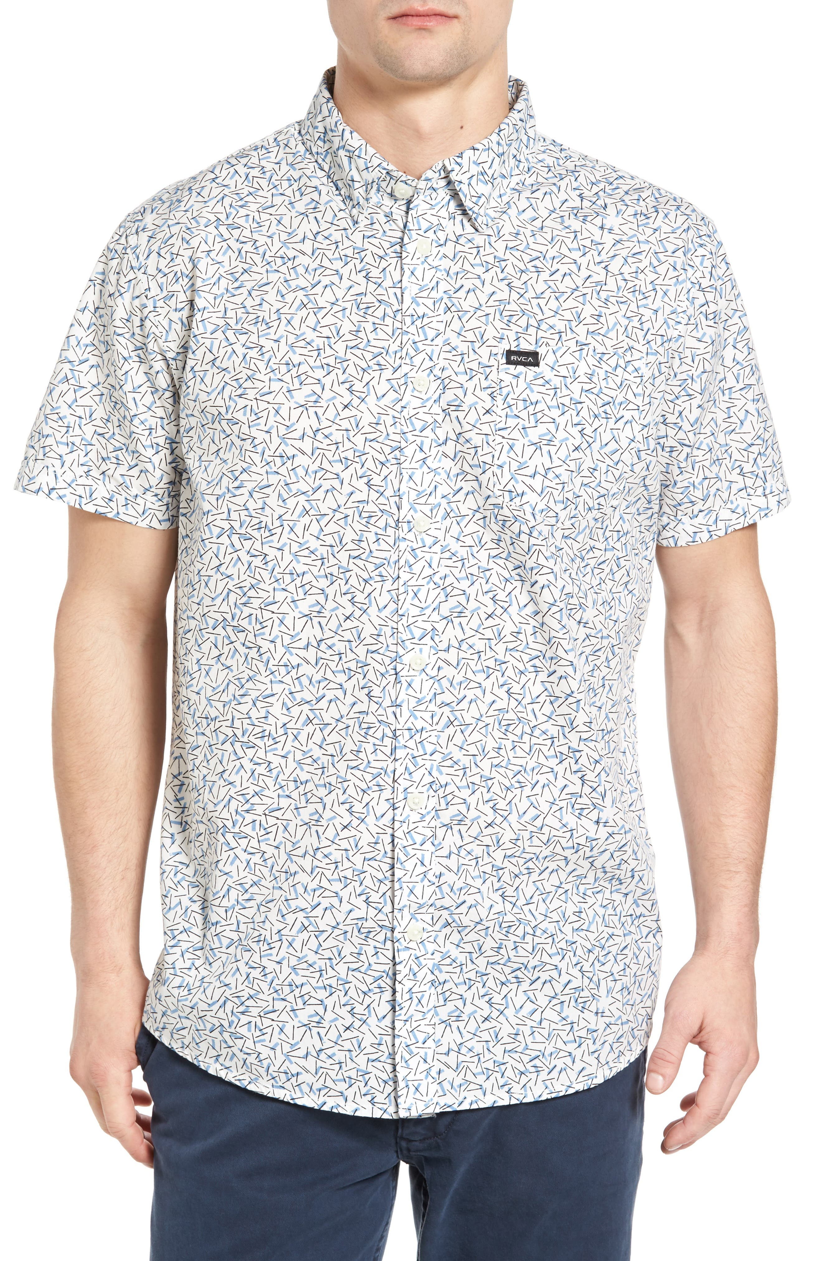 RVCA Clearwater Slim Fit Woven Shirt
