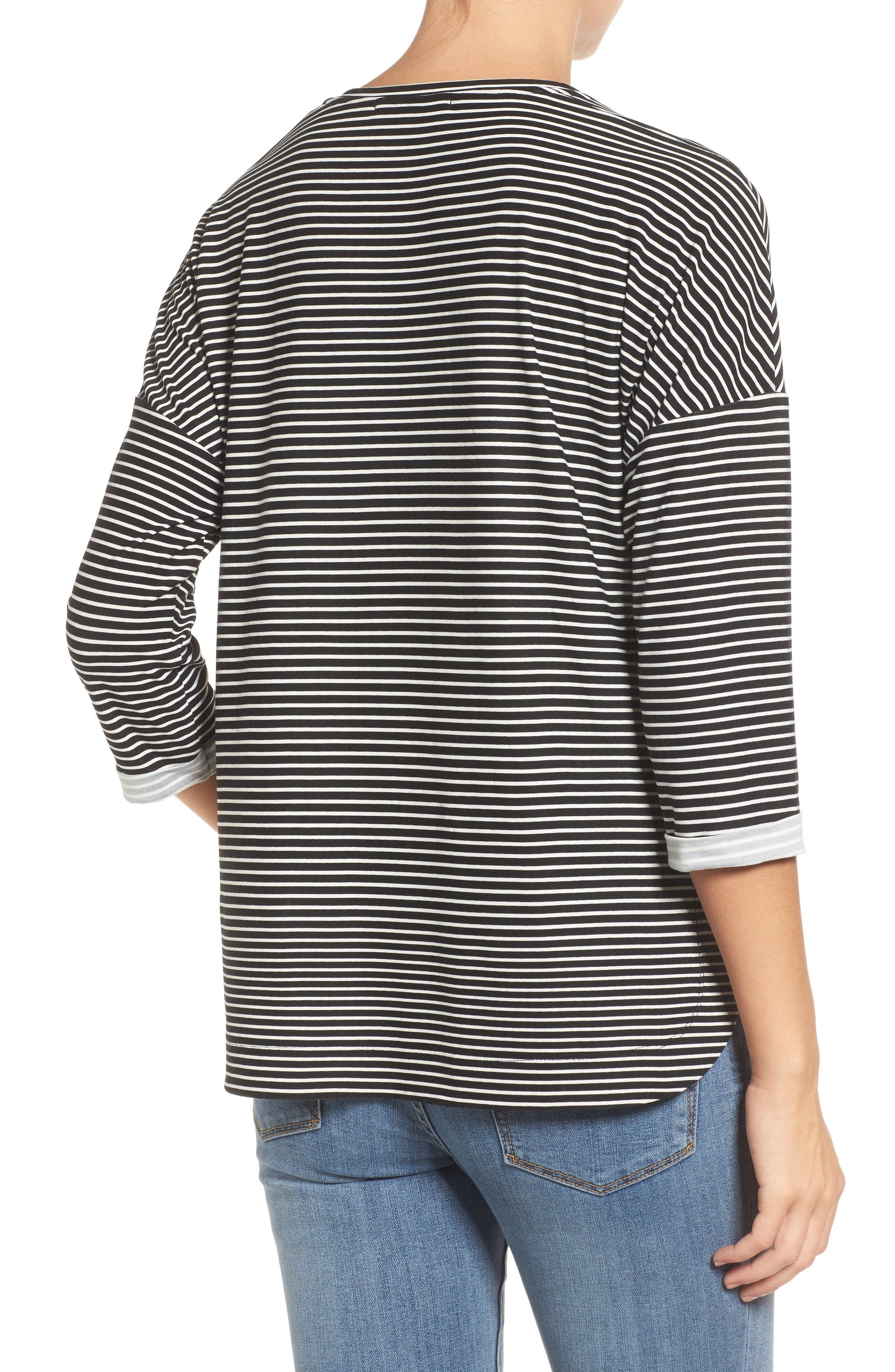 Alternate Image 2  - Gibson Stripe A-Line Tee