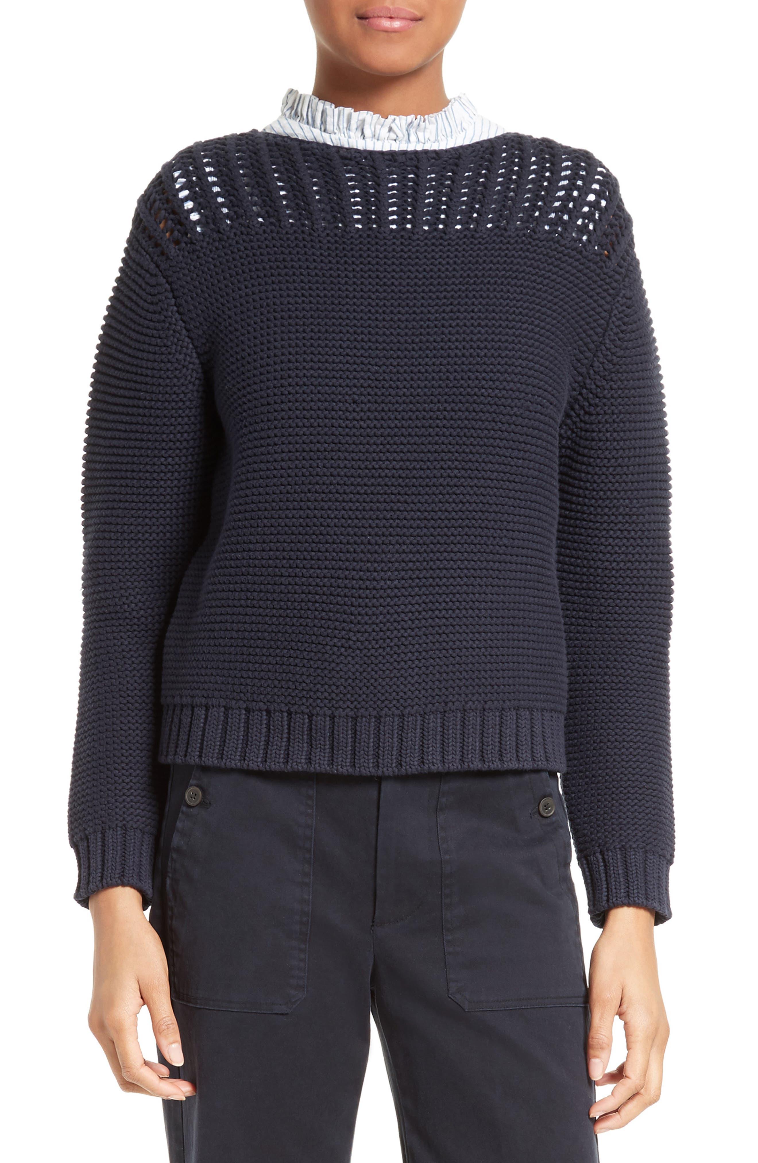 LA VIE REBECCA TAYLOR Mixed Stitch Pullover