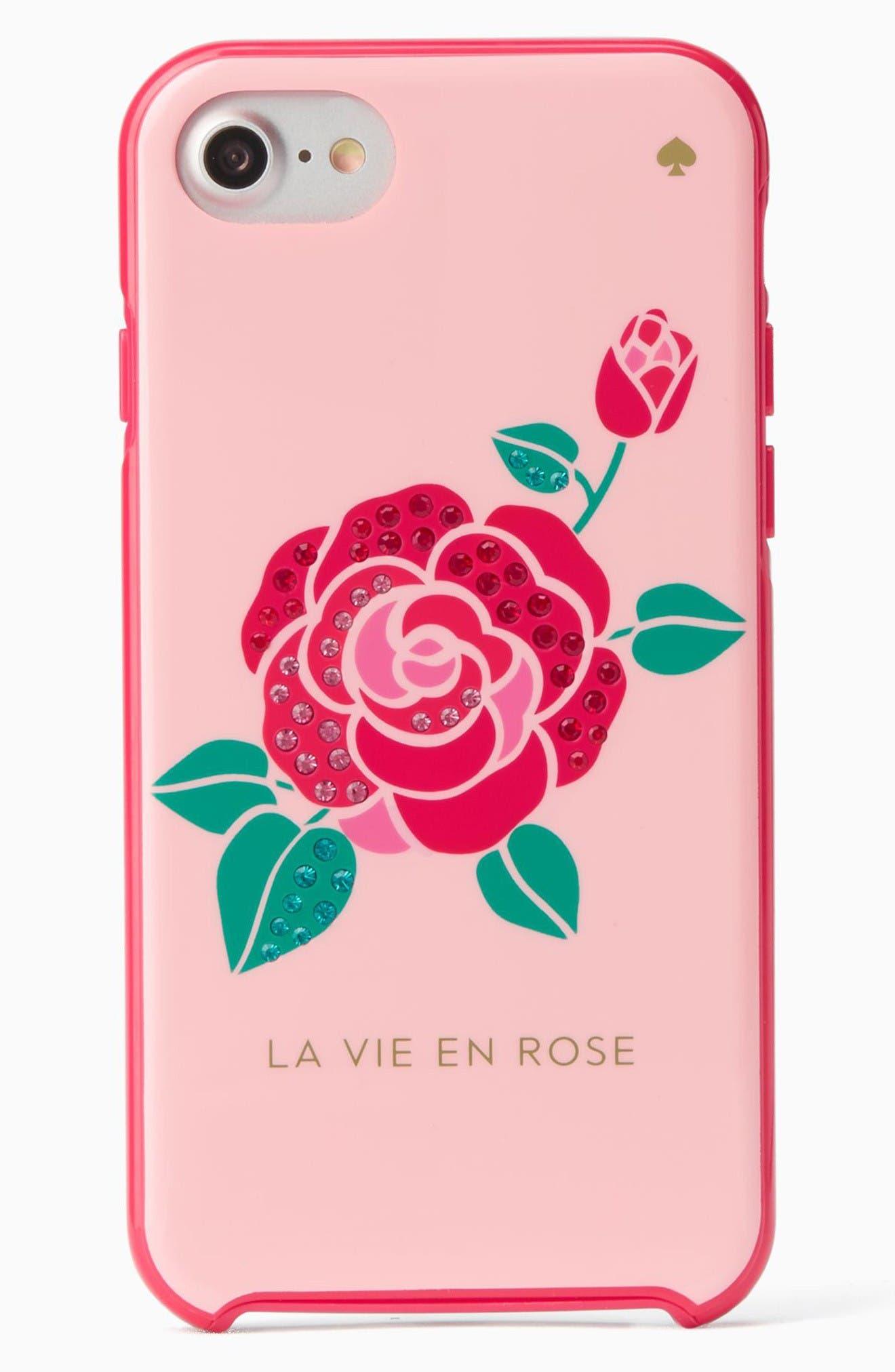 Alternate Image 1 Selected - kate spade new york la vie en rose iPhone 7 & 7 Plus case