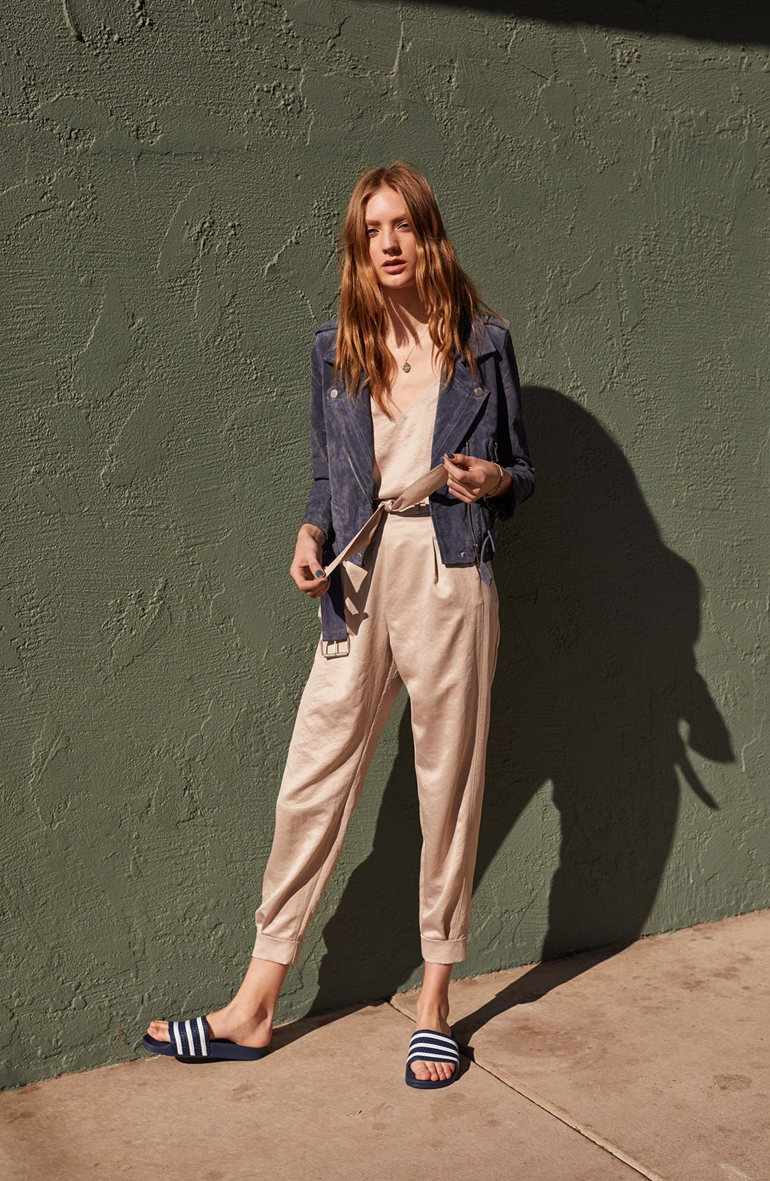 BLANKNYC Jacket, Leith Camisole & Pants Outfit with Accessories