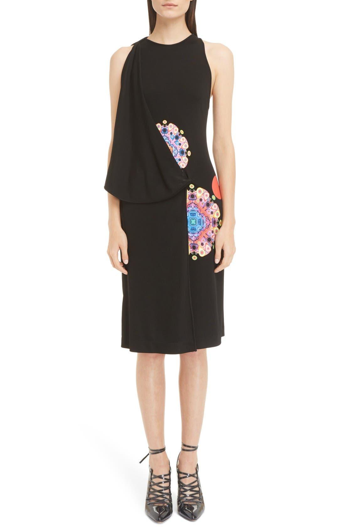 GIVENCHY Mandala Print Crepe Dress