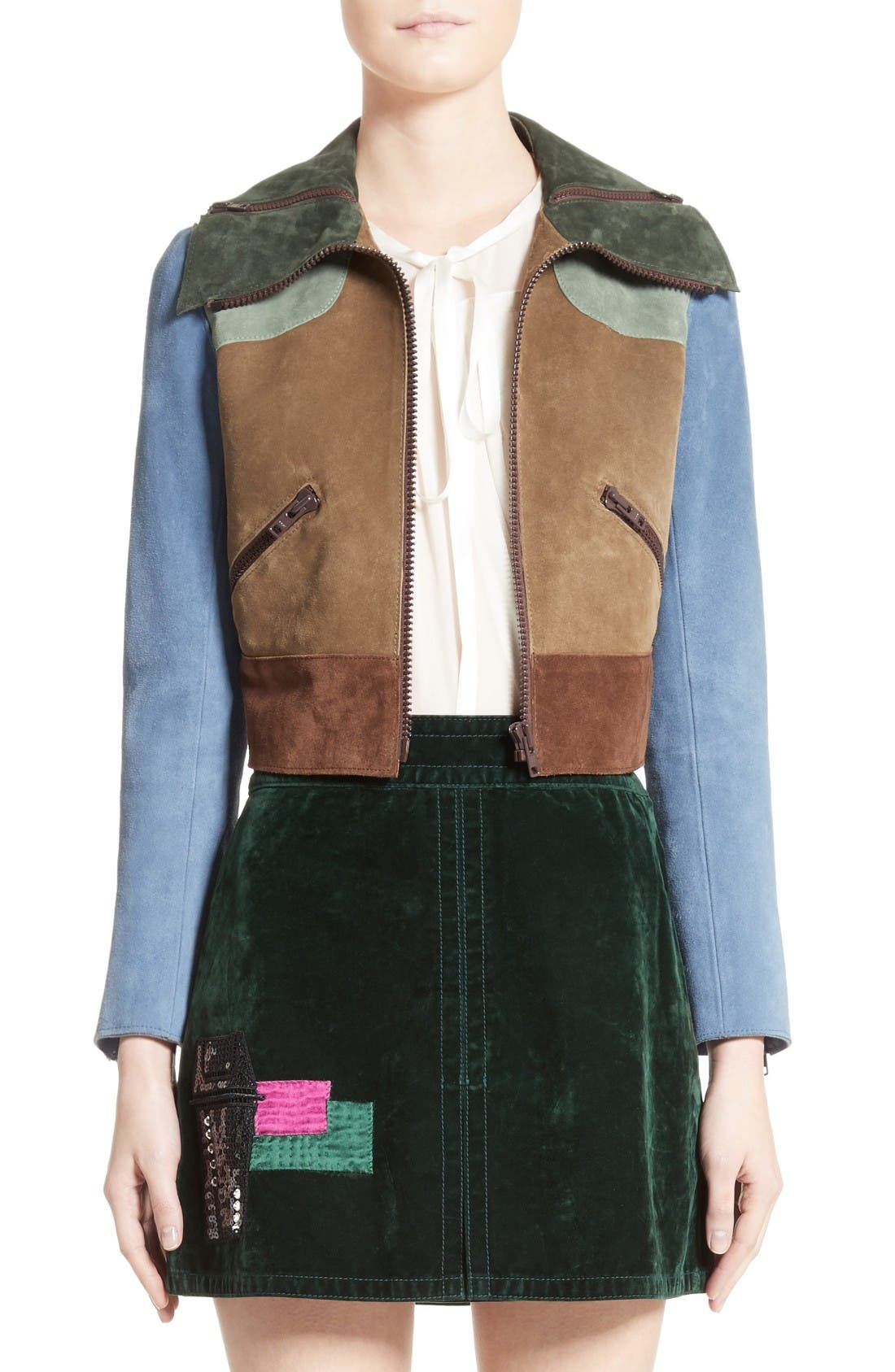 Main Image - MARC JACOBS Suede Patchwork Jacket