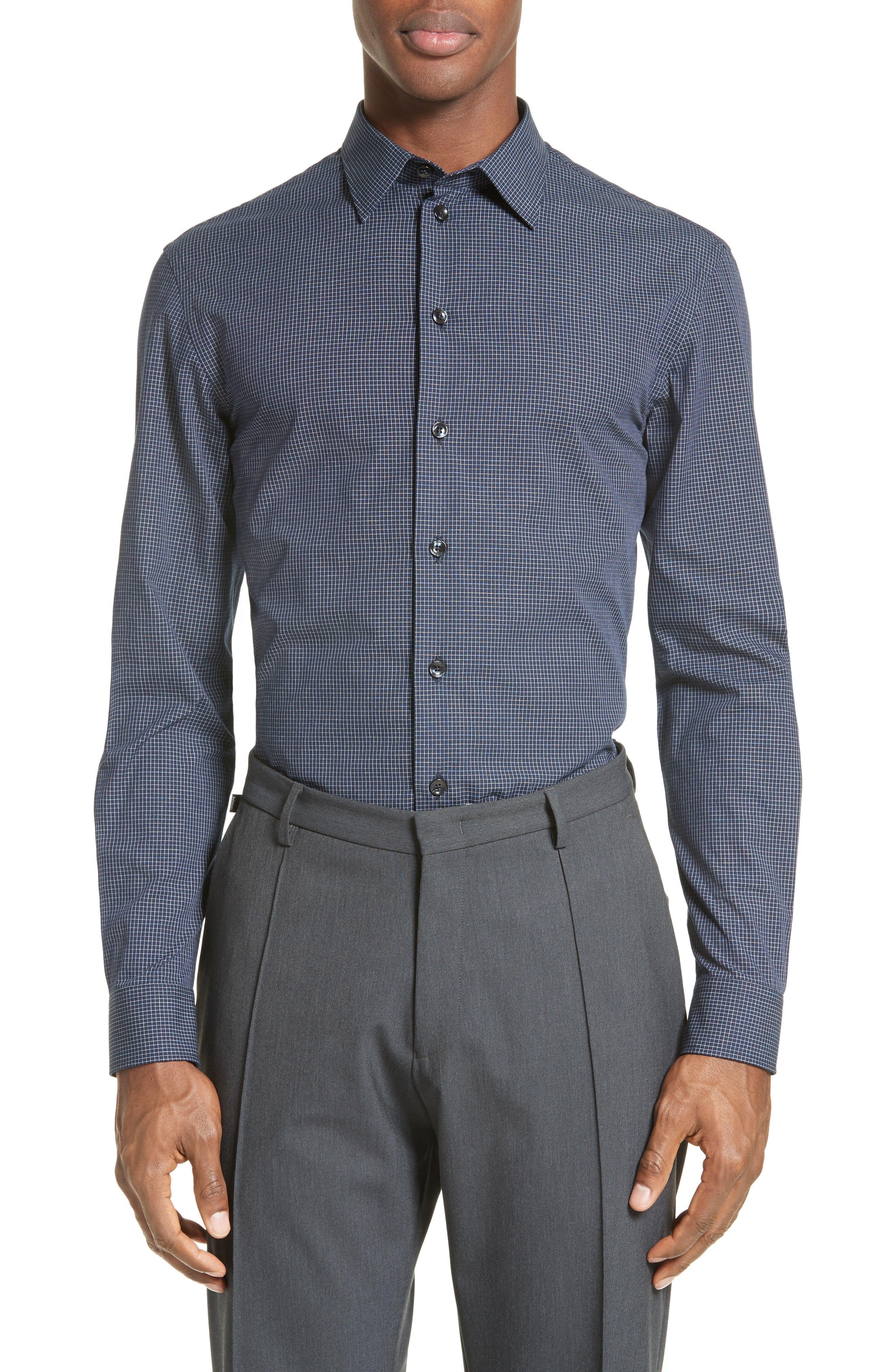 ARMANI COLLEZIONI Trim Fit Graph Print Sport Shirt