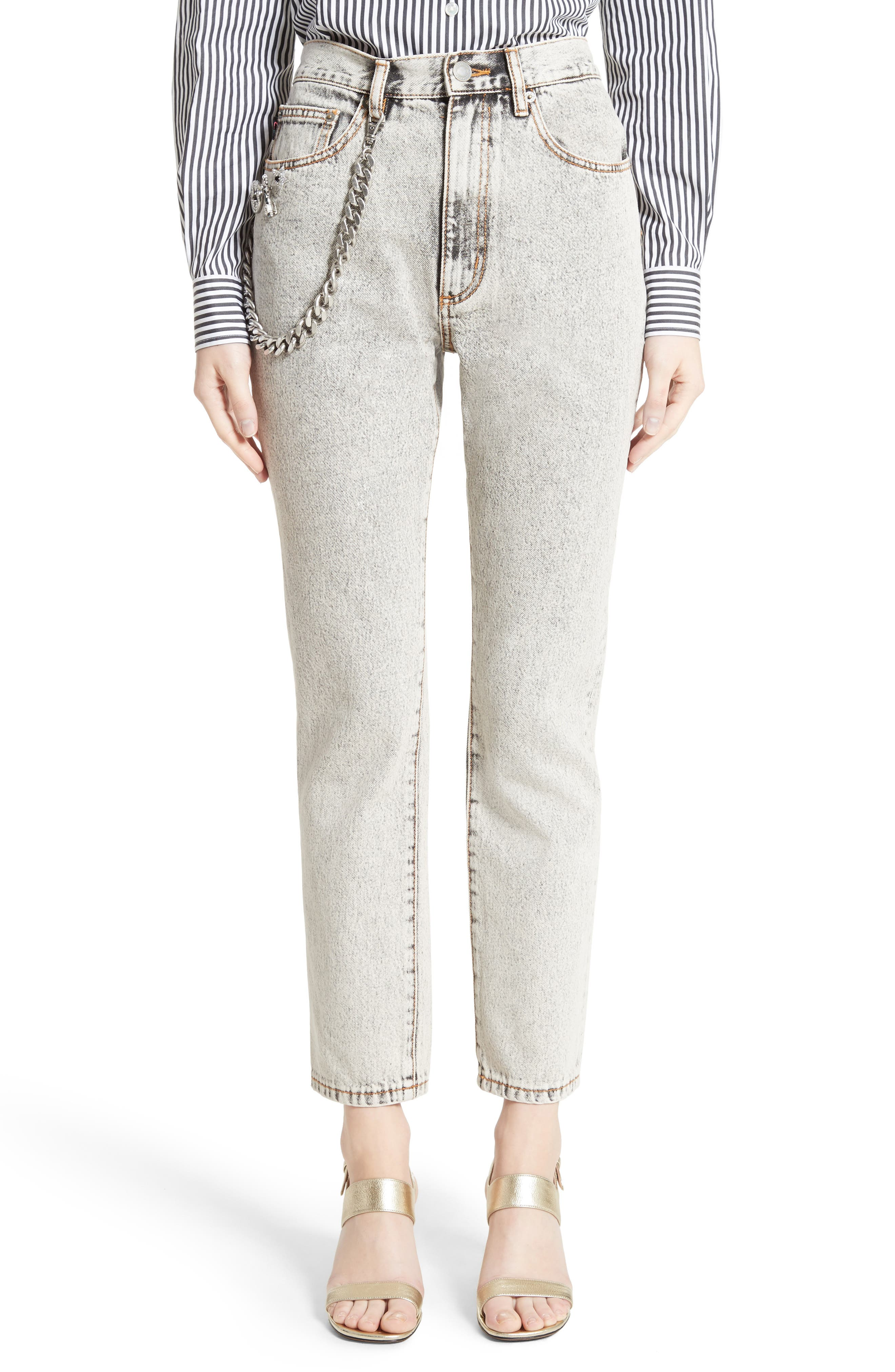 MARC JACOBS Overdyed Bleach Stovepipe Jeans