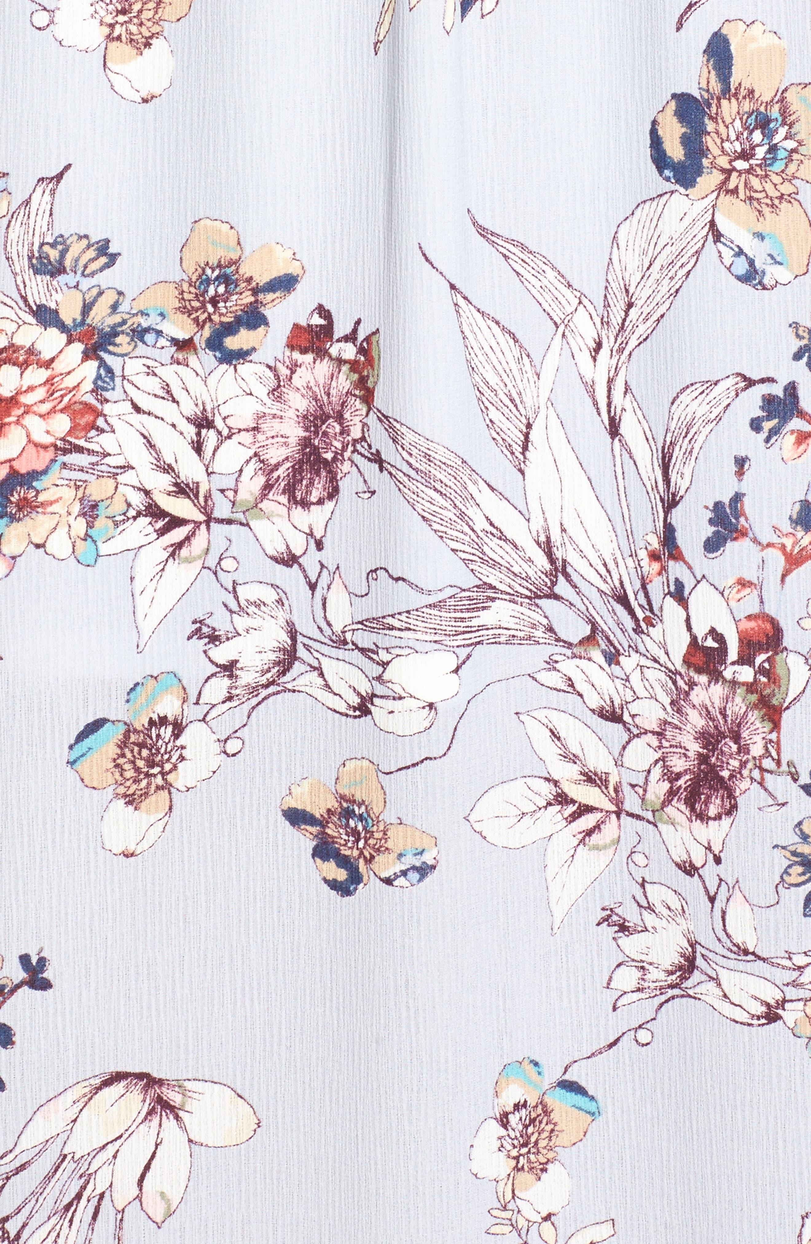 Alternate Image 5  - One Clothing Floral Cold Shoulder Maxi Dress