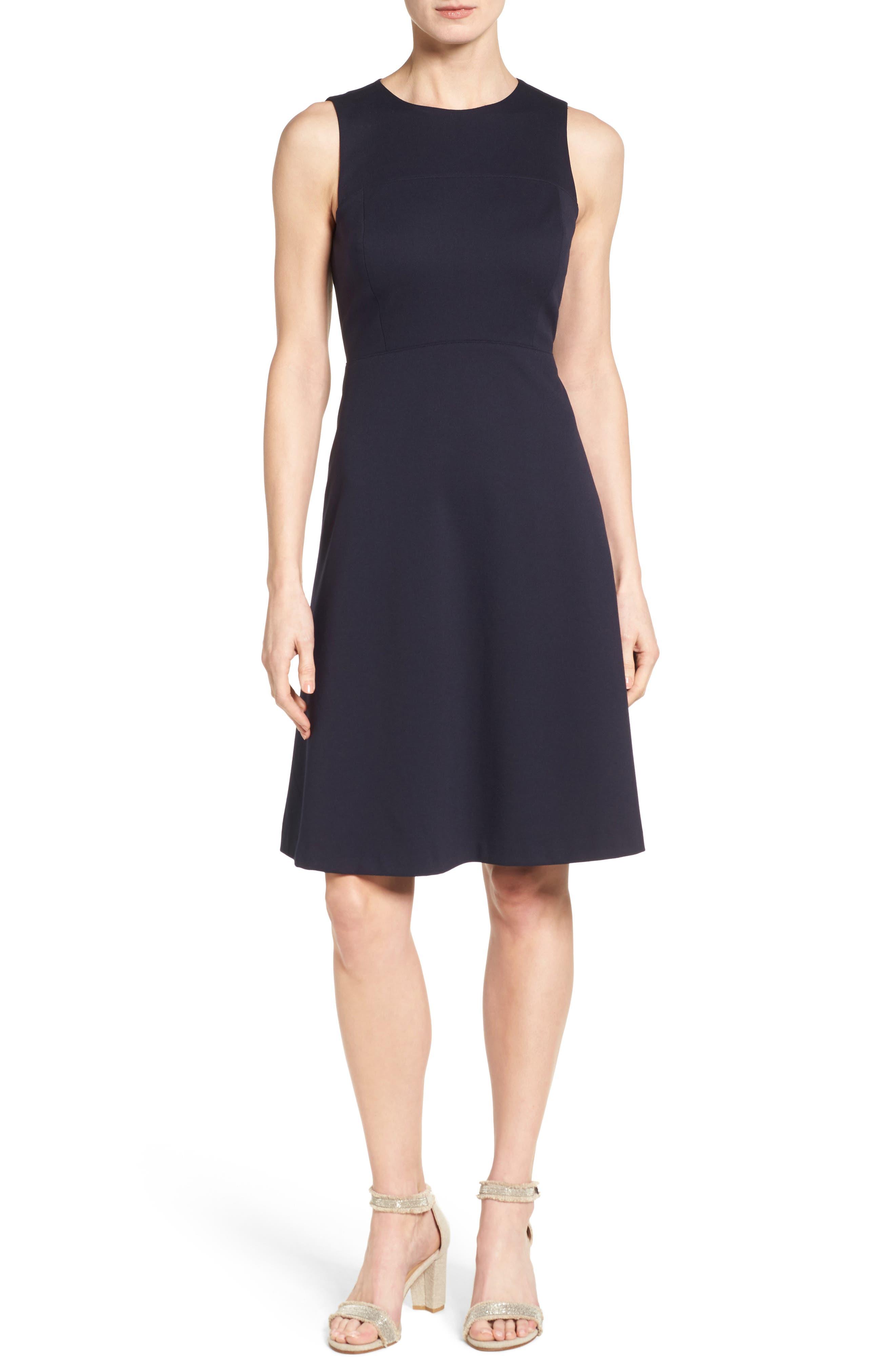 Classiques Entier® Sleeveless Interlock Fit & Flare Dress (Regular & Petite)