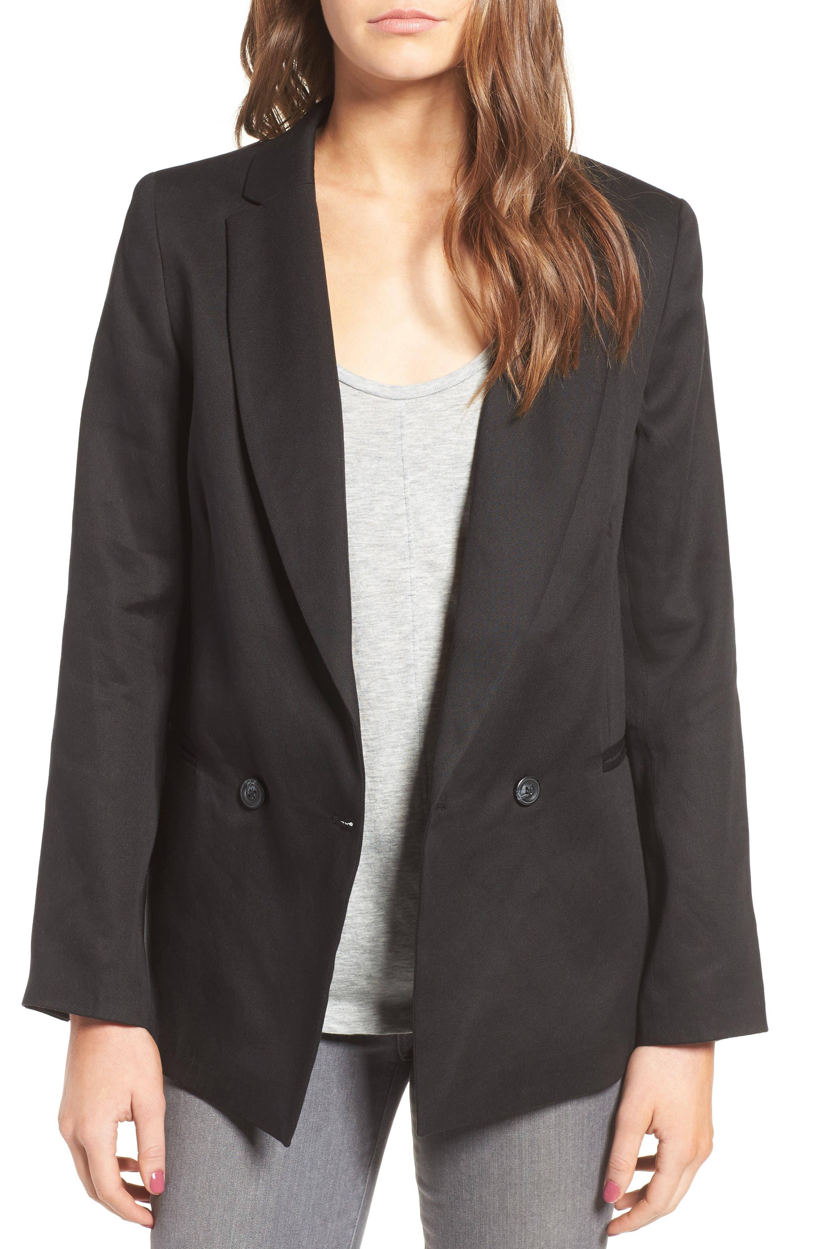 Alternate Image 1 Selected - Sincerely Jules 'Riley' Notch Collar Blazer