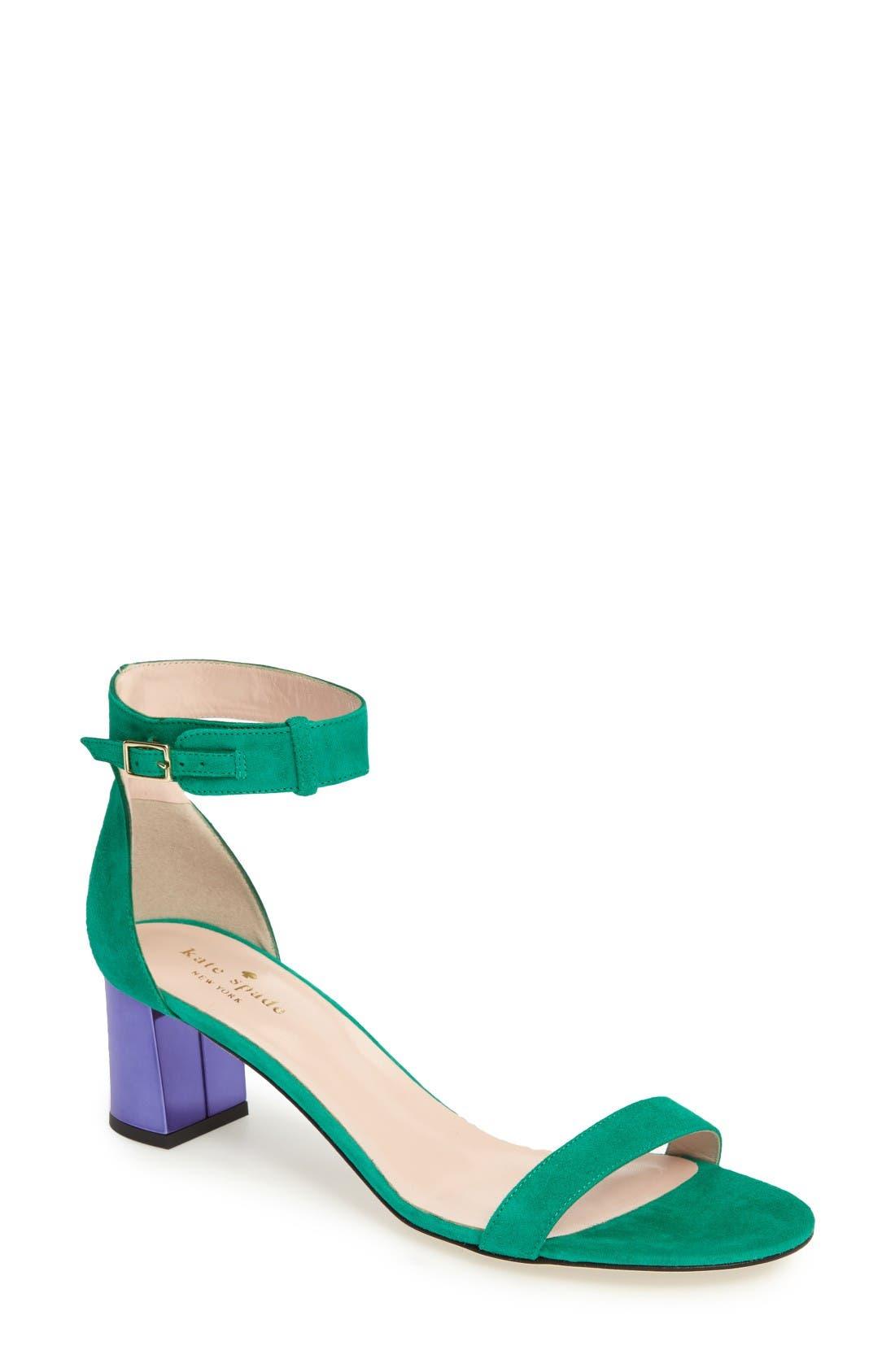 Alternate Image 1 Selected - kate spade new york menorca ankle strap sandal (Women)