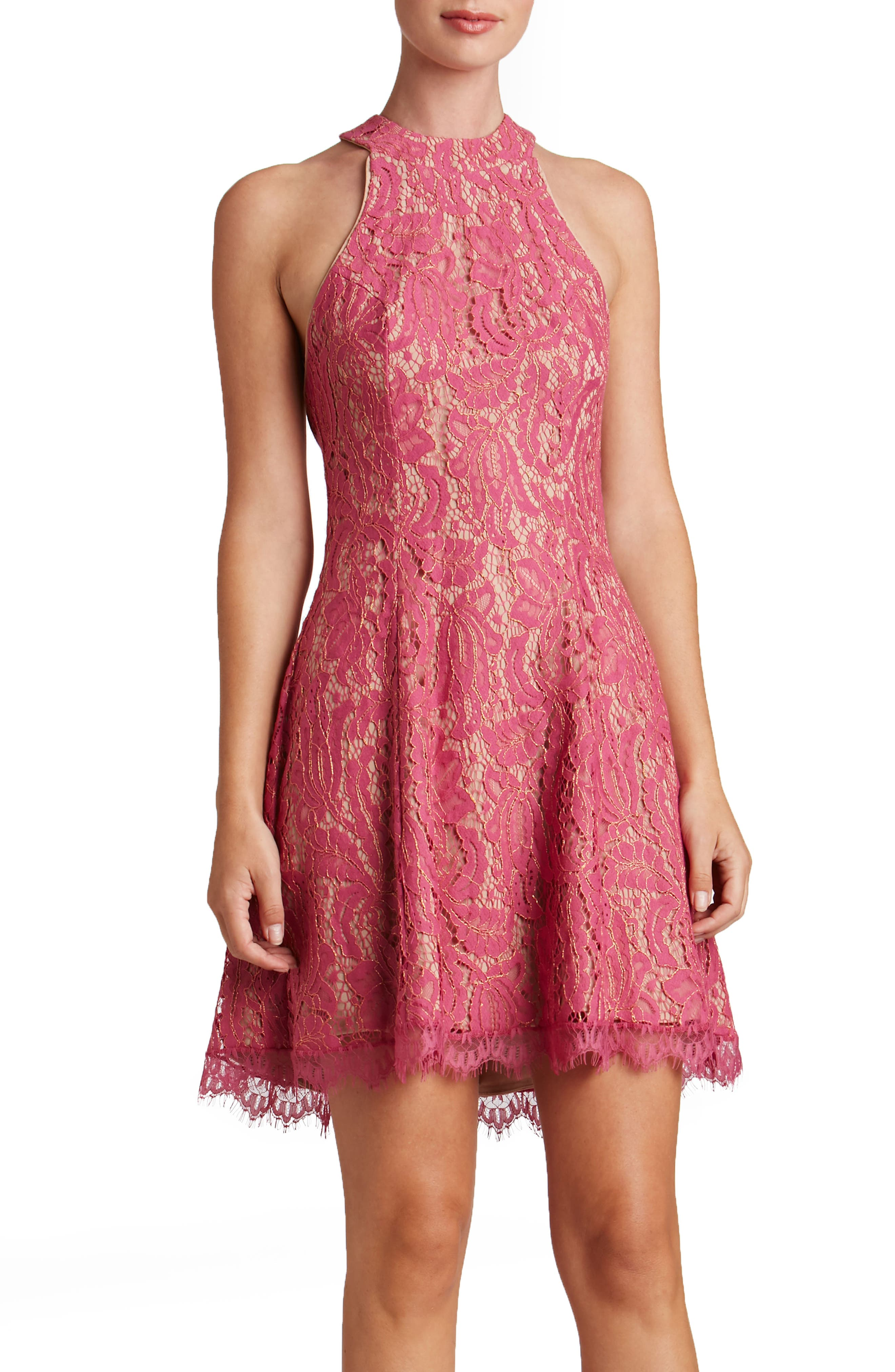 Alternate Image 1 Selected - Dress the Population Angie Halter Dress