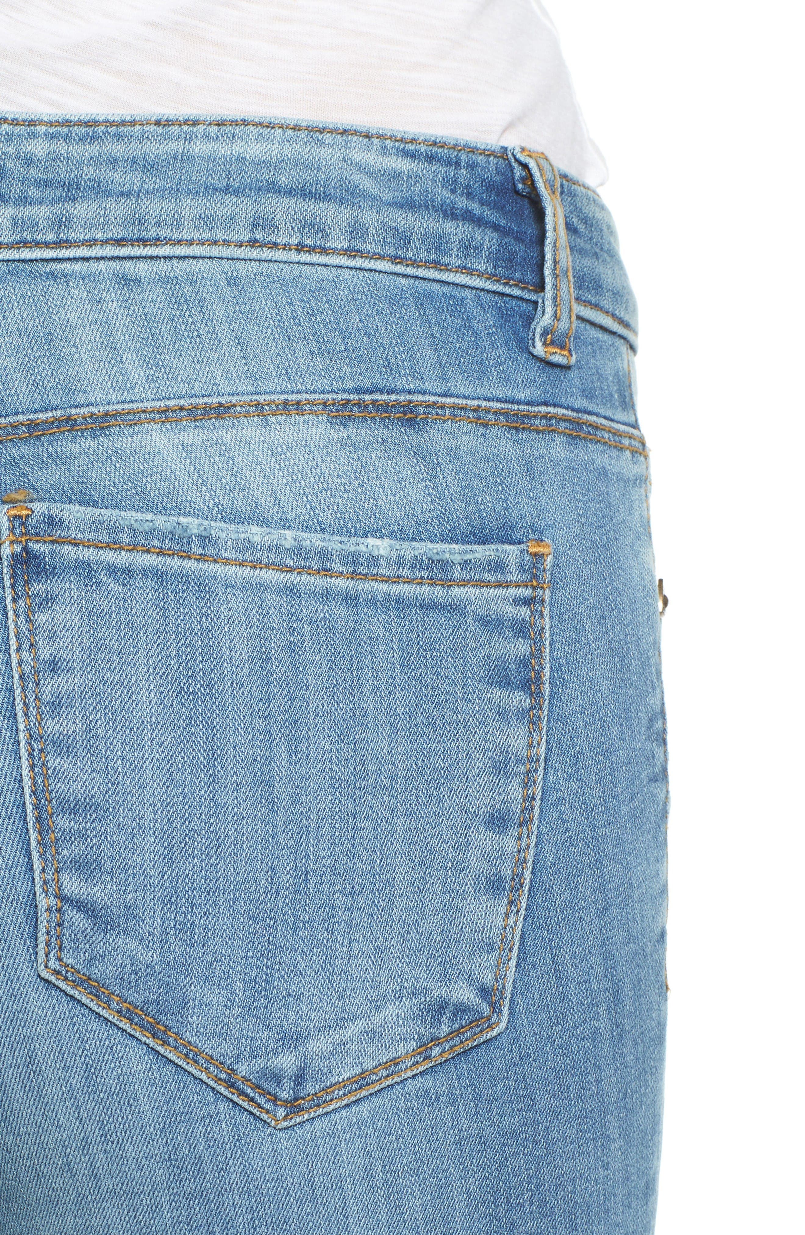 Alternate Image 4  - KUT from the Kloth Reese Frayed Straight Leg Ankle Jeans (Participation)