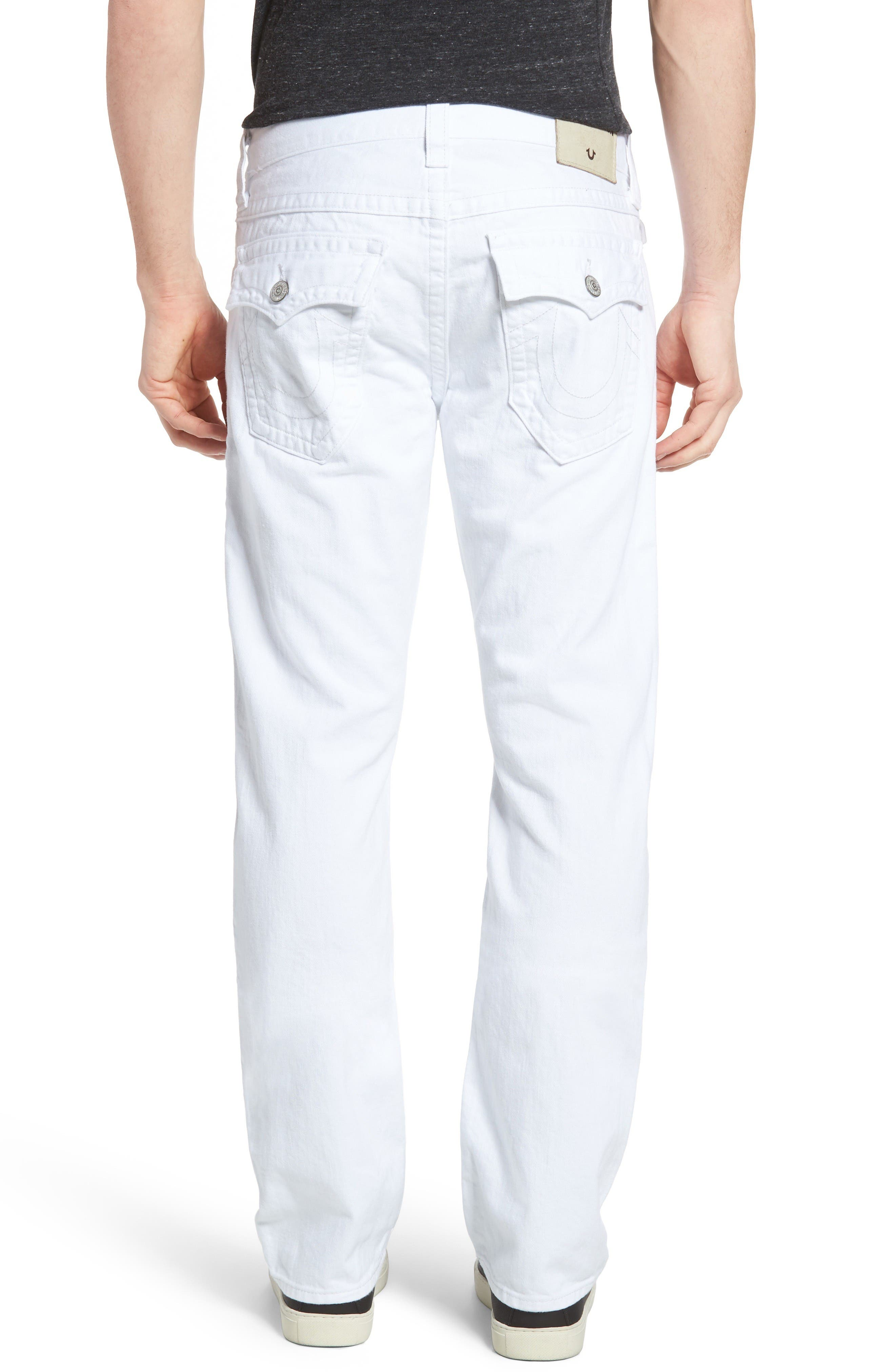 Alternate Image 2  - True Religion Brand Jeans Ricky Relaxed Fit Jeans (Optic White) (Regular & Big)