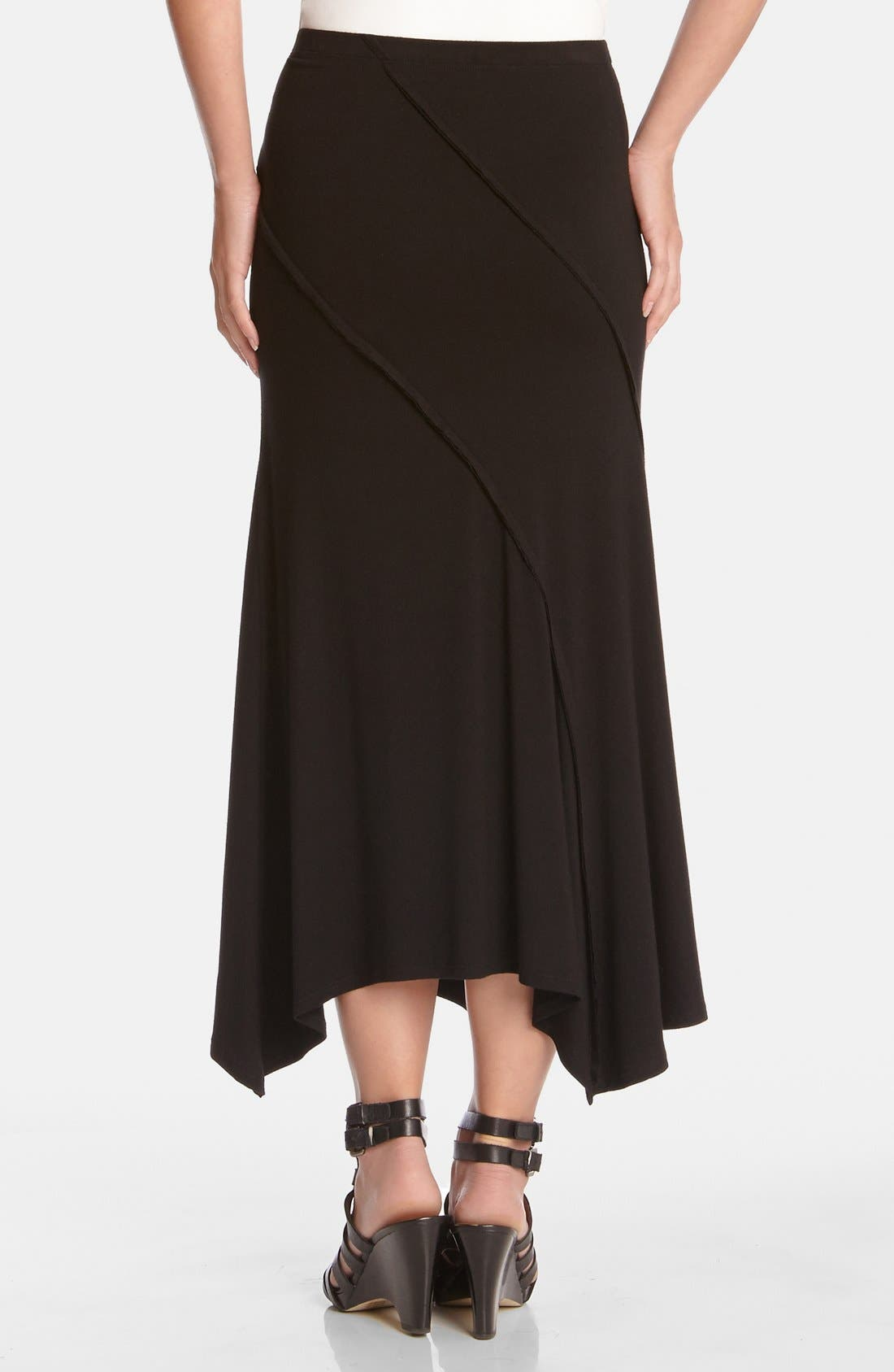 Alternate Image 2  - Karen Kane Spiral Seam Stretch Knit Maxi Skirt