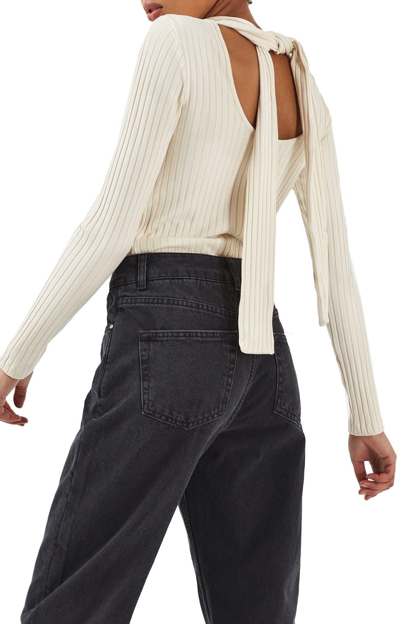Alternate Image 4  - Topshop Boutique Tie Back Sweater