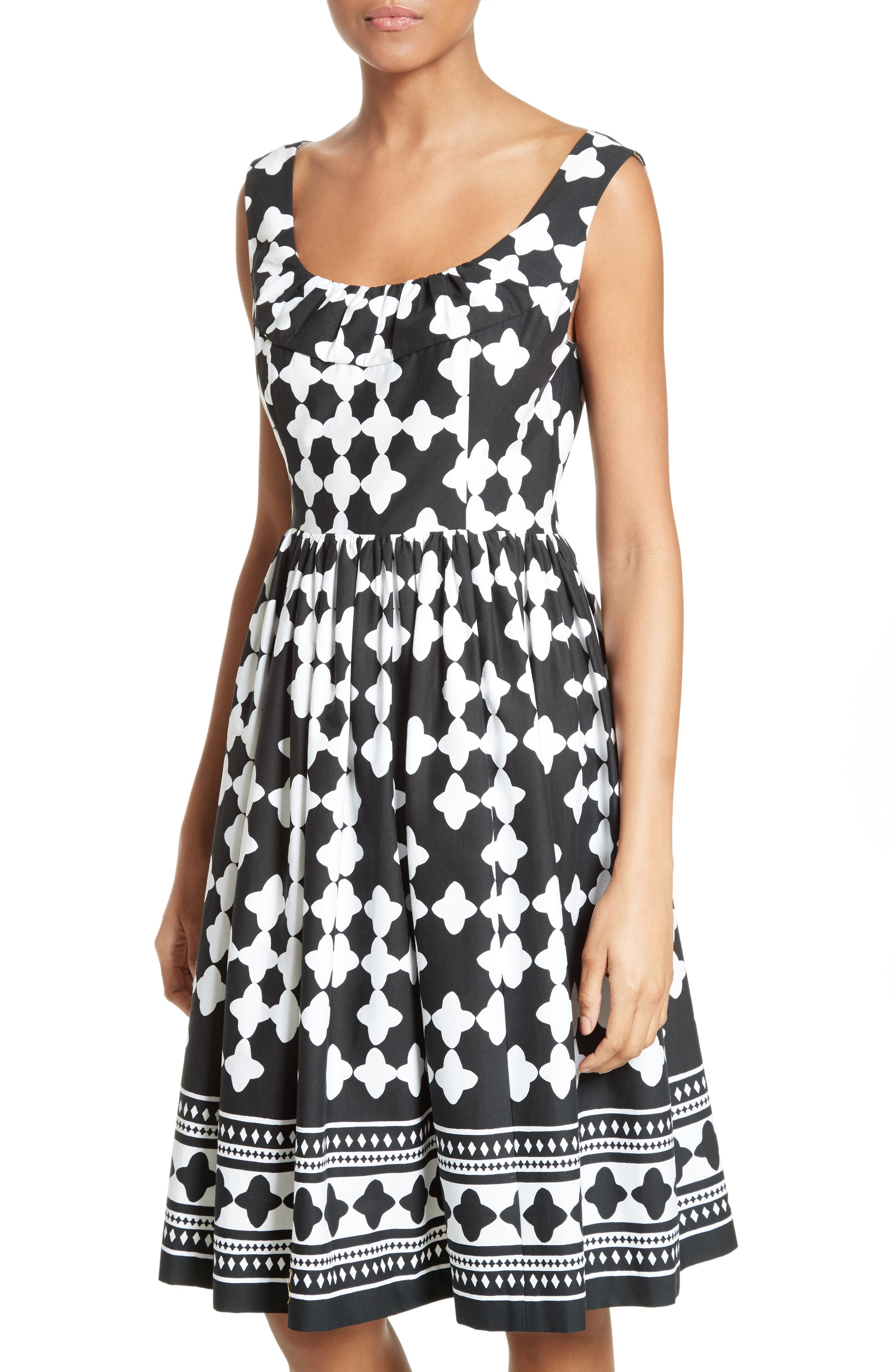 Alternate Image 4  - kate spade new york lantern print scoop neck dress
